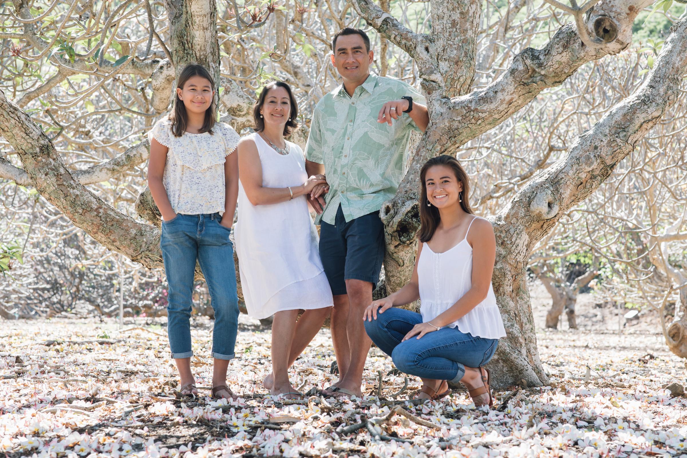 Jones Family Portraits, Kokohead Botanical Gardens, Oahu, 2018