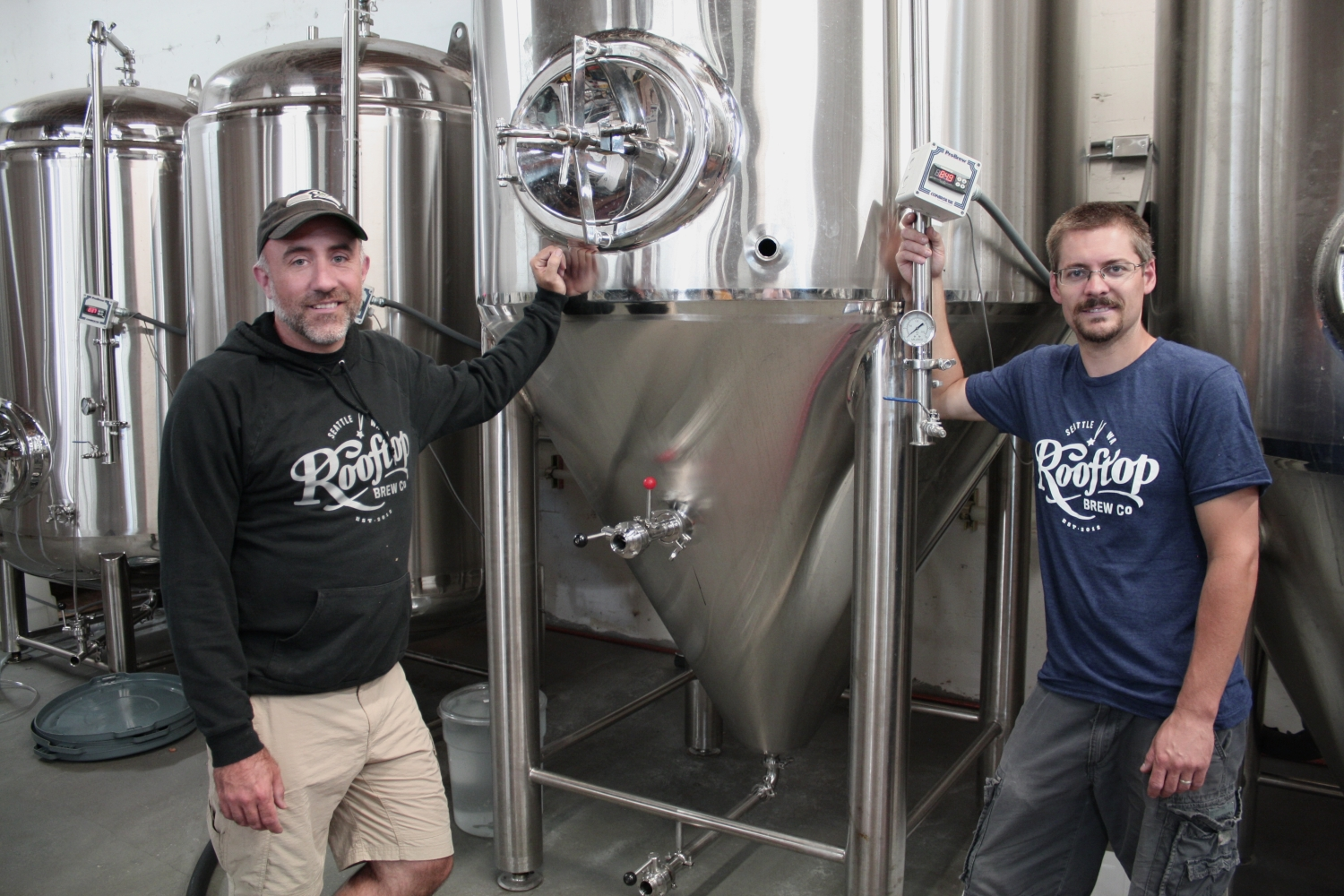 Owner/Manager/Brewer, Craig Christian and new full-time brewer, Kyle Feldman