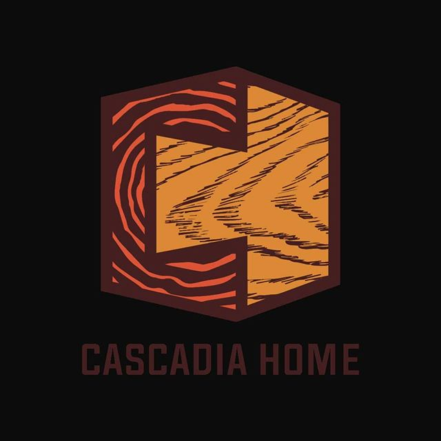 logo design for @cascadiahome custom fine furniture by dakota goulder