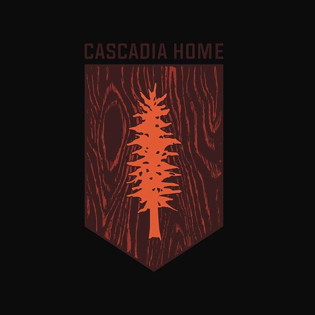 second logo design for @cascadiahome fine furniture featuring the cascadia flag tree