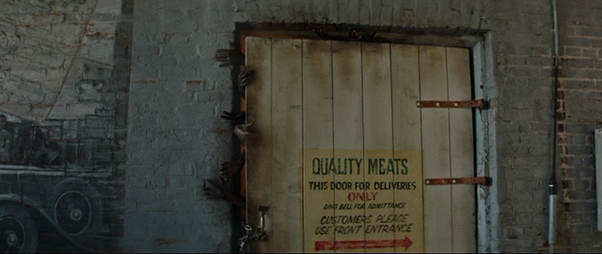 "Showing off effects, but also because I couldn't pass up a sign that said ""Quality Meats."""