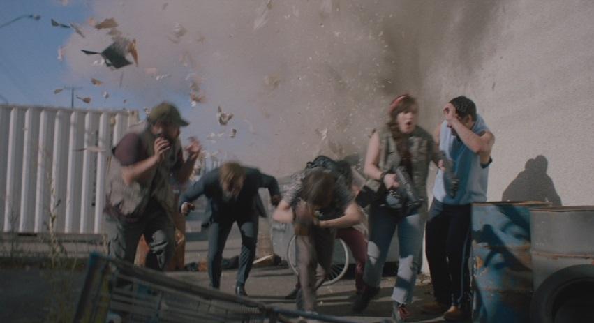 An explosive scene.