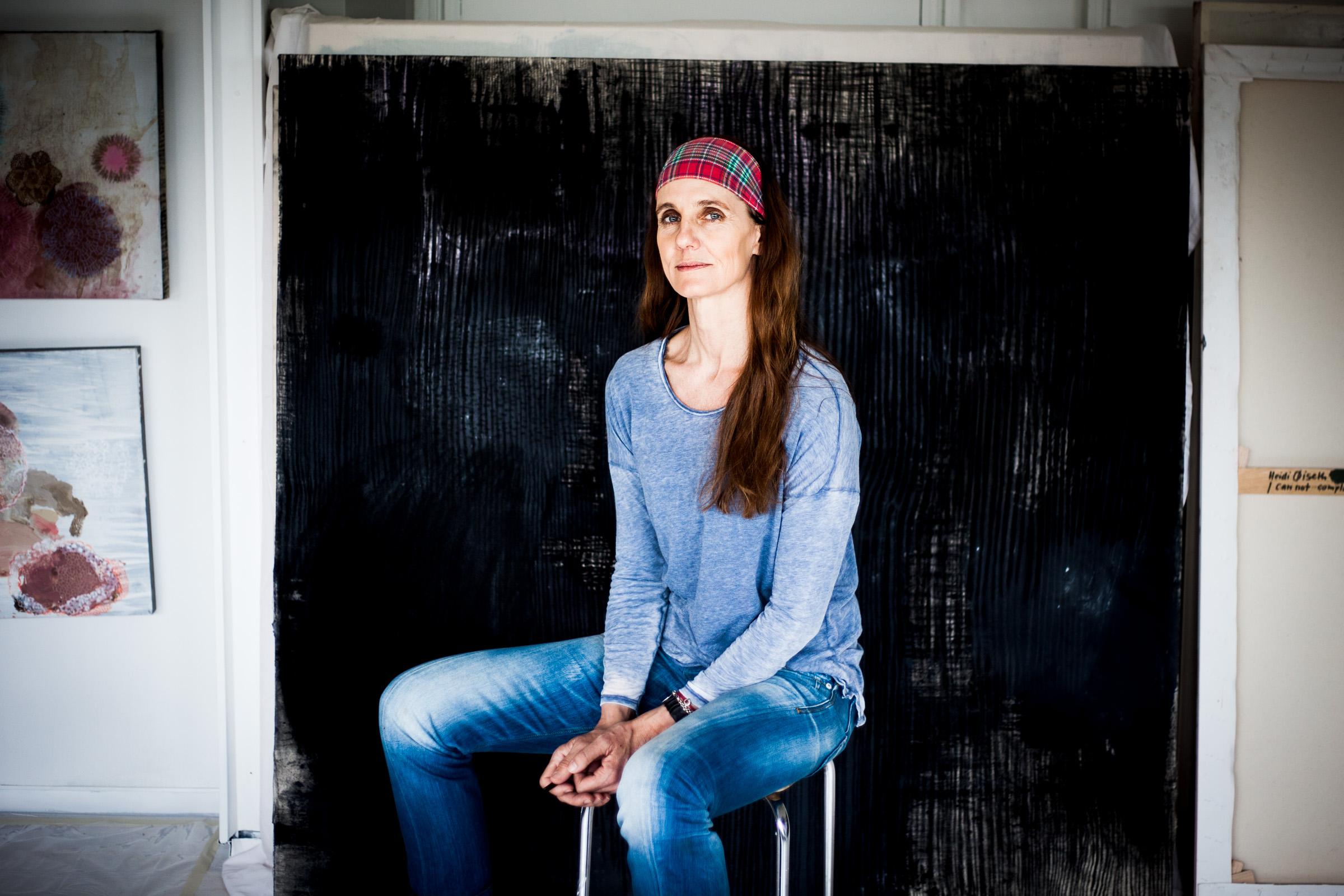Portrait of the norwegian painter Heidi Øiseth.
