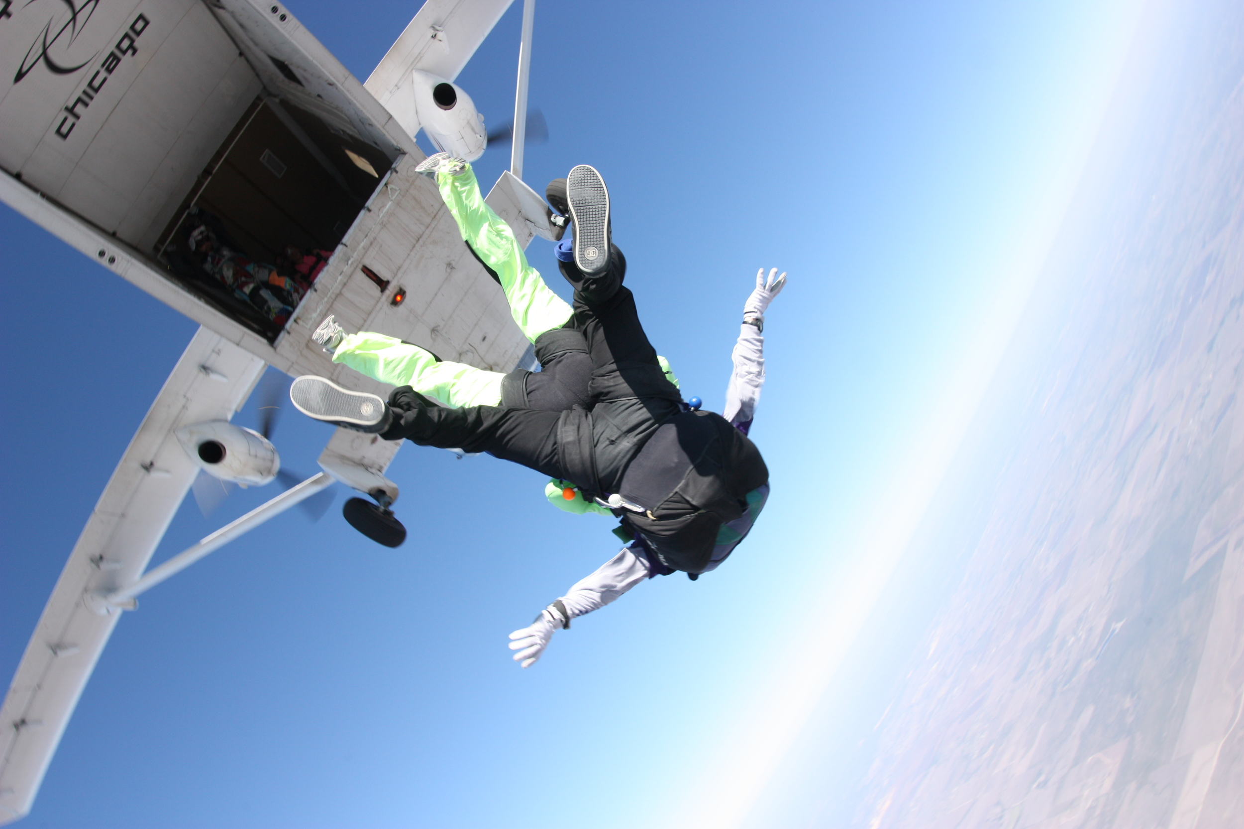 So this weekend I jumped out of an airplane...