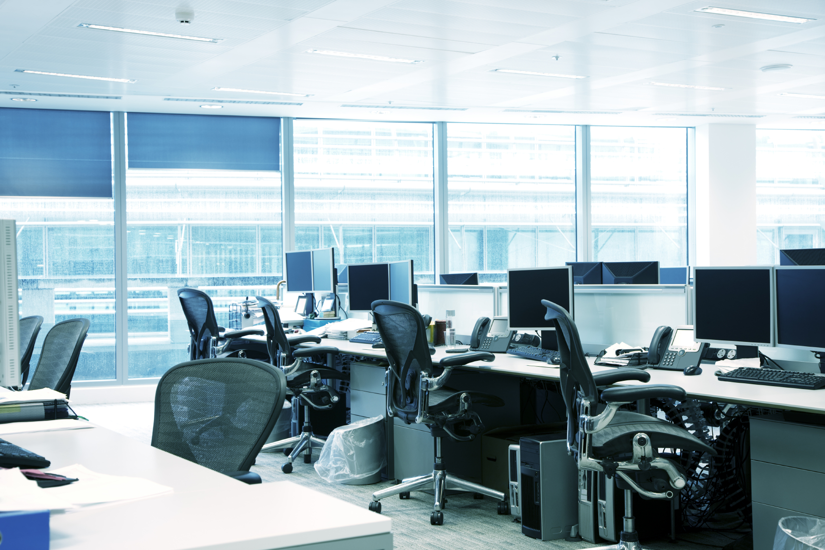 Office space works station chairs & technology.jpg