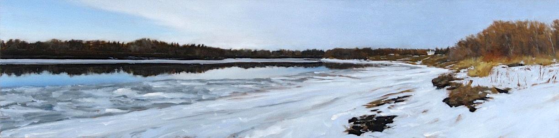 Oil on Board, 2012, 12 x 48