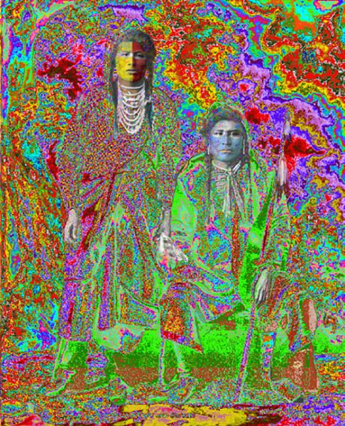 Elder Brothers, Ilfordchrome (cibachrome) photograph, 73.5x90