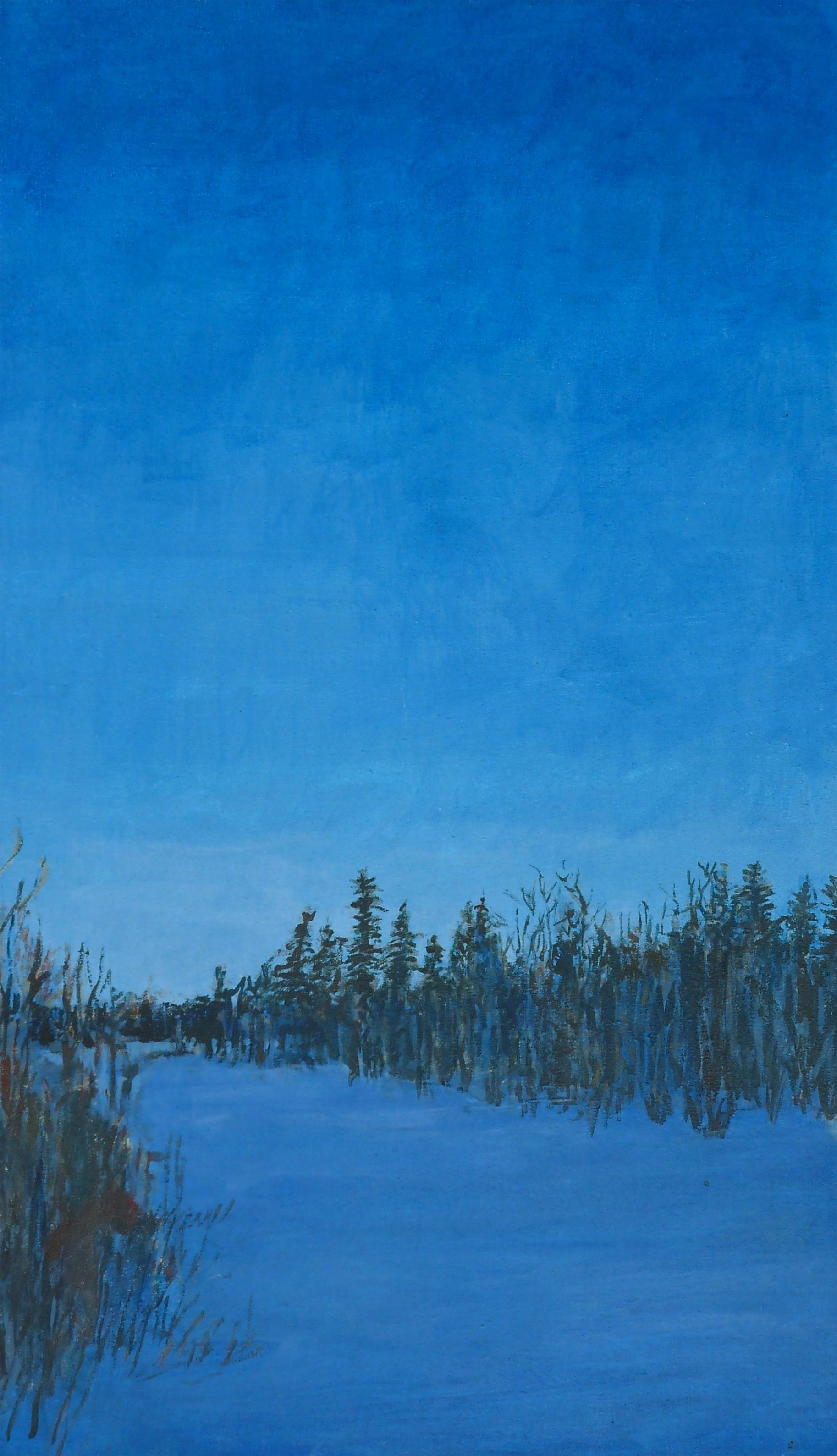 AB-007, Blue Evening in December,  2004,  22 x 13, SOLD.JPG