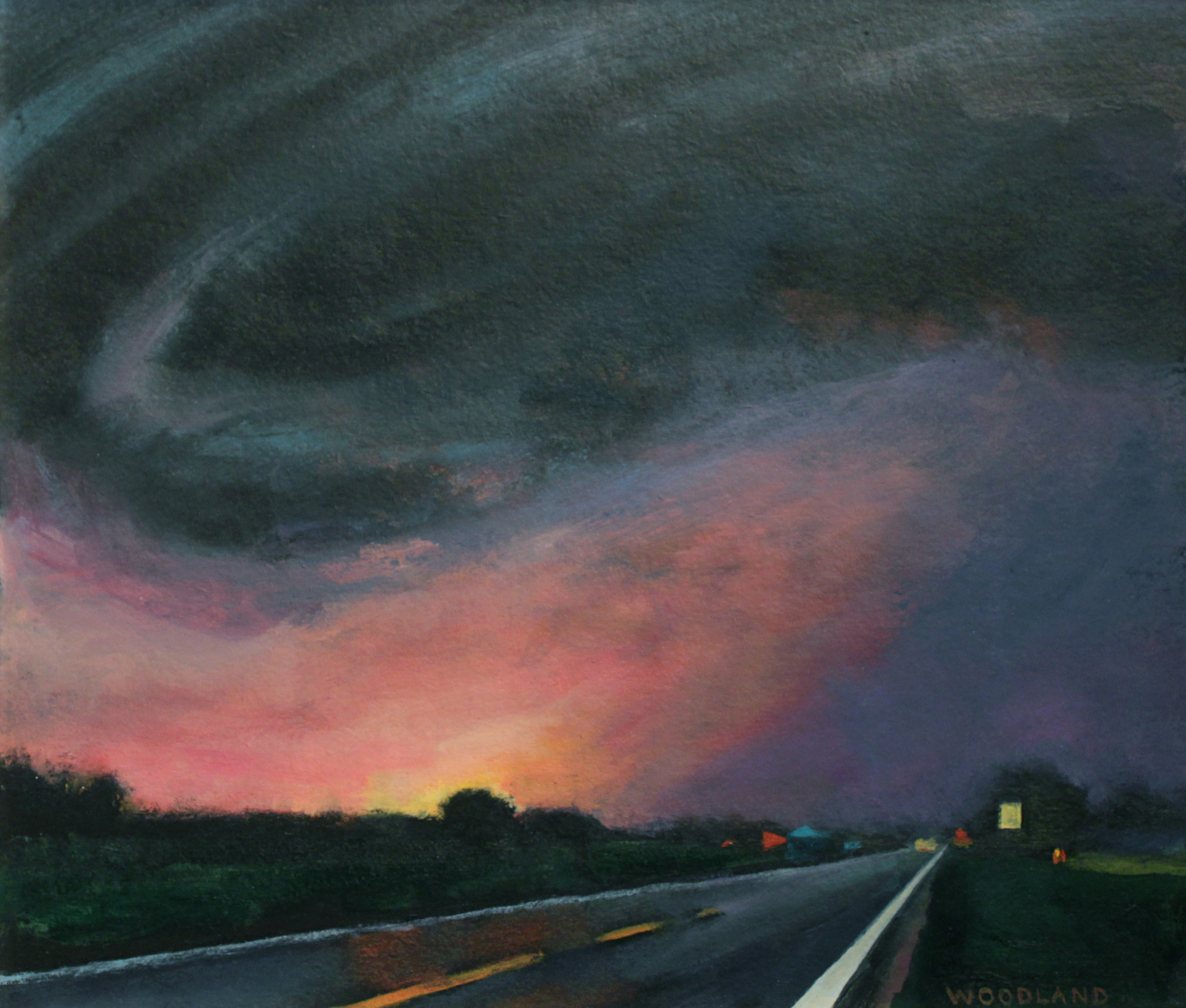 BT-008, Bette Woodland, Dark Landscape, Oil on Artboard, 2011, 8 x 10.jpg