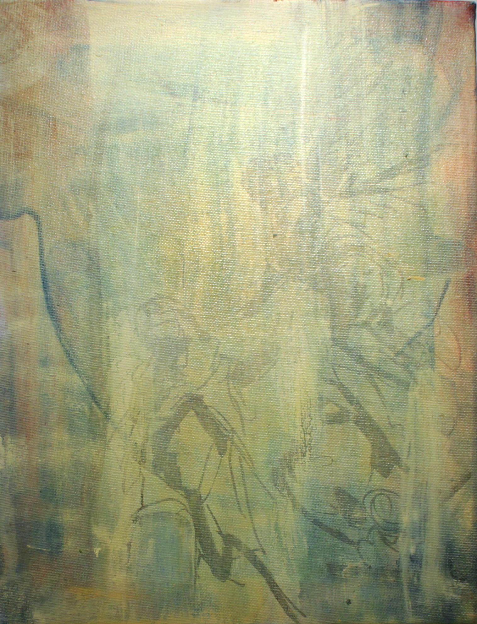CW-046, Christian Worthington, Annunciation, Acrylic and Oil on Canvas, 11 x 14.jpg