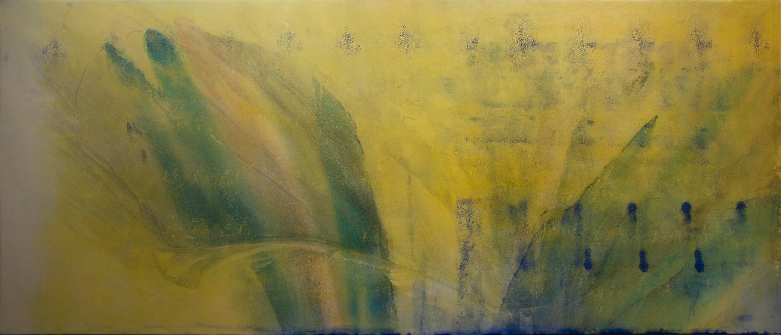 """Christian Worthington, 1337, Oil and Acrylic on Canvas, 105"""" x 45"""""""