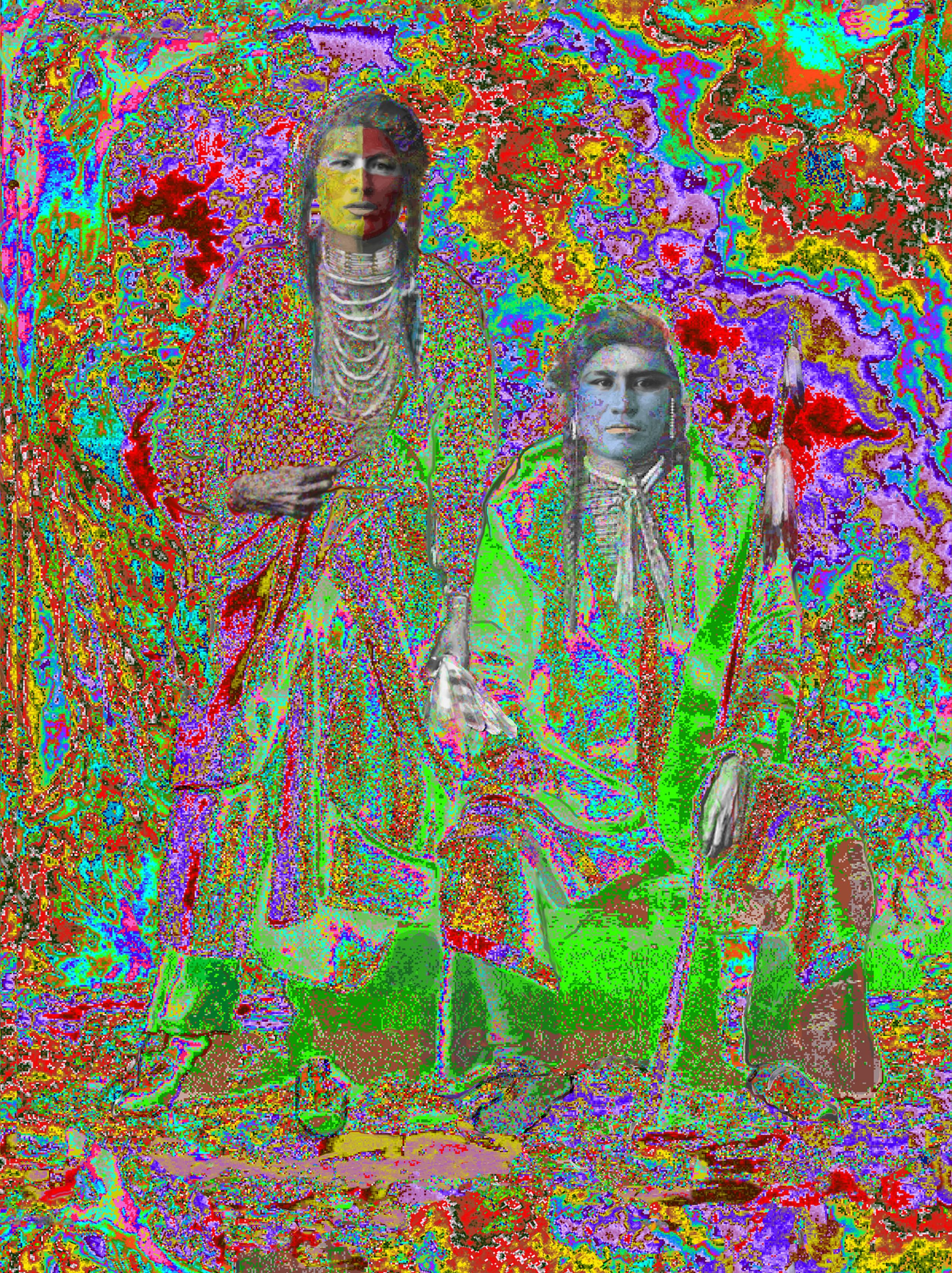 "Buffy Sainte-Marie,  Elder Brothers , Ilfordchrome (cibachrome) photograph, 73.5"" x 90"""