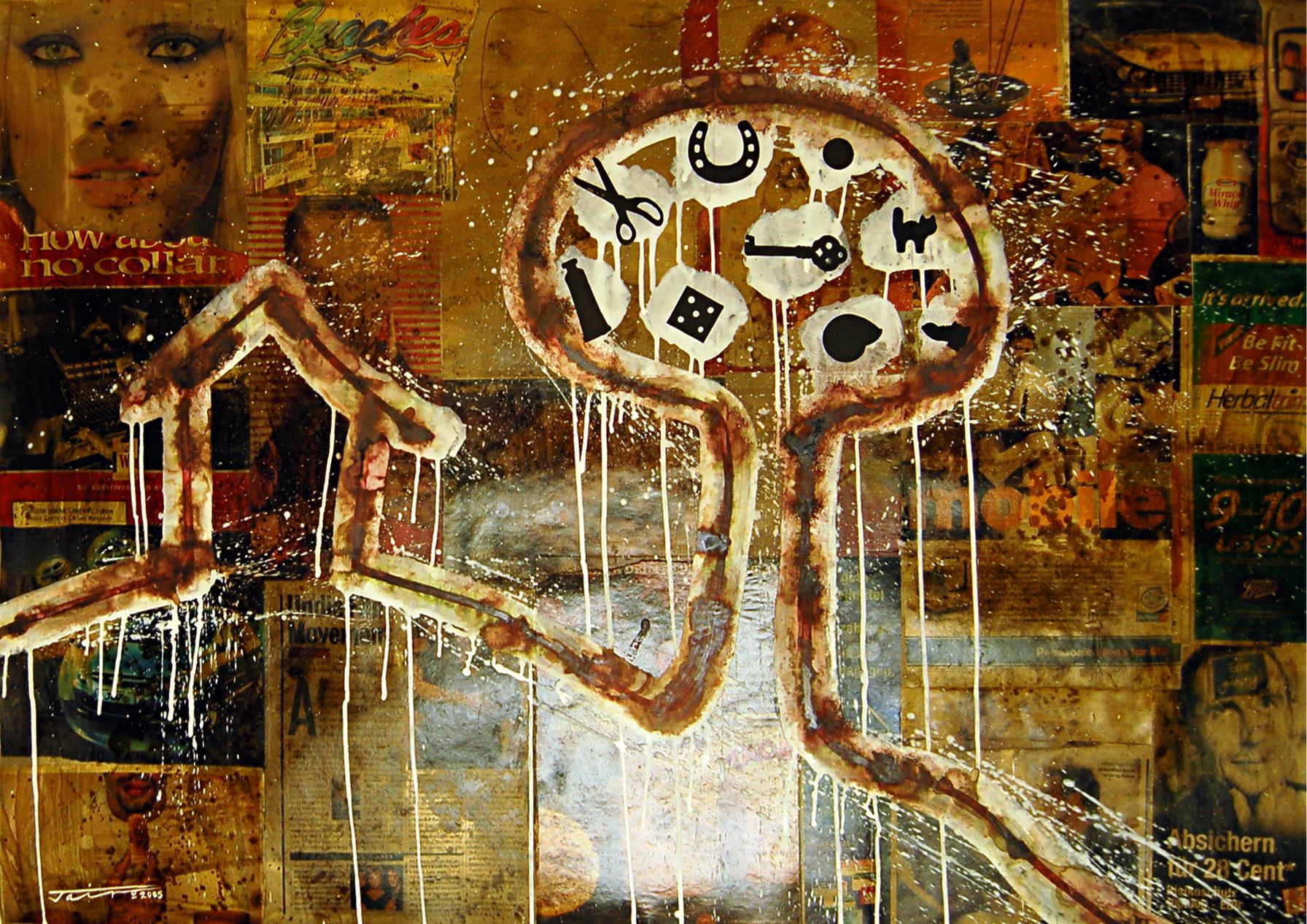 De la Series-Intervenciones #6 (House with Tree)
