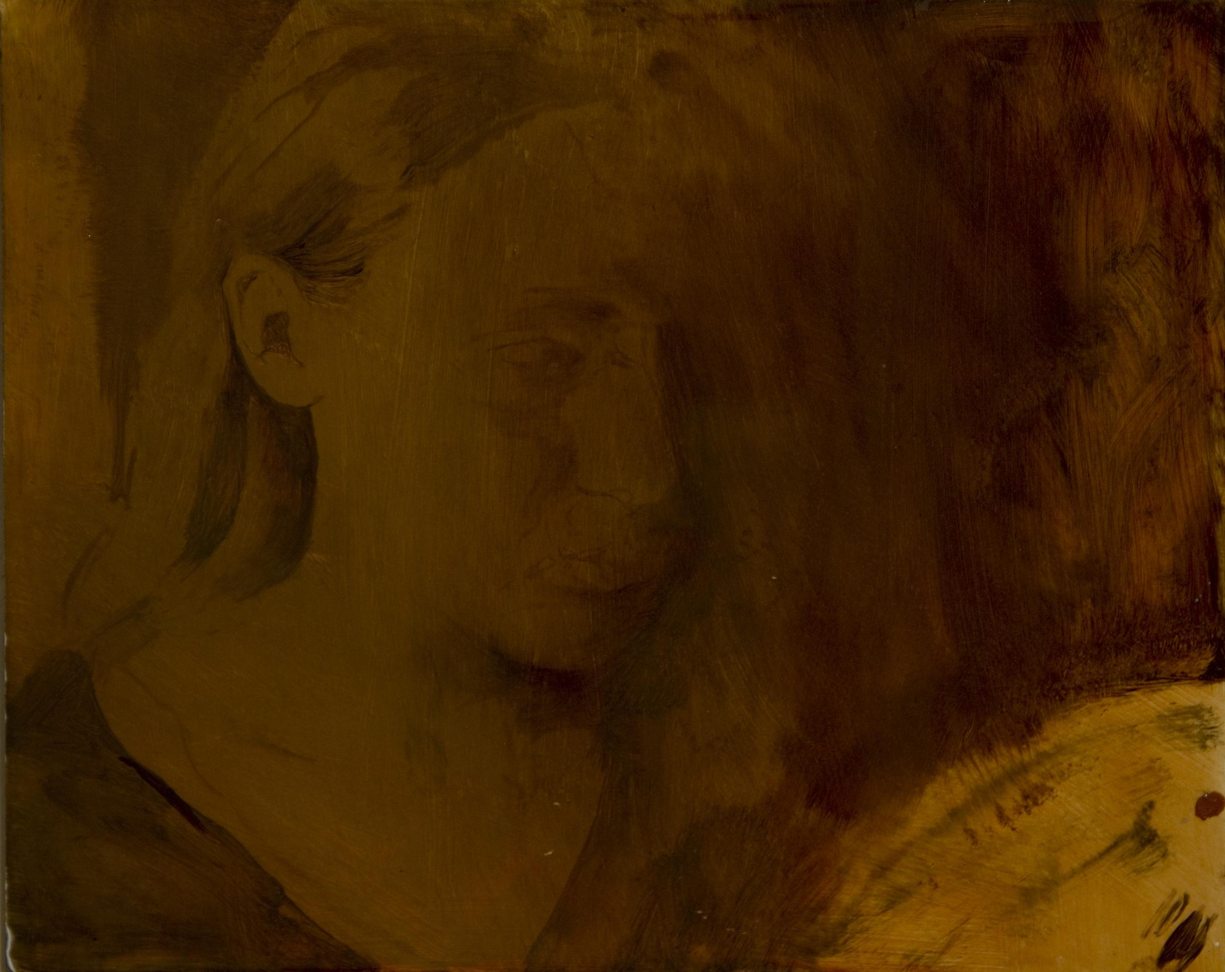 "Eve, Oil on Board, 2010, 10"" x 8"", $1,200"