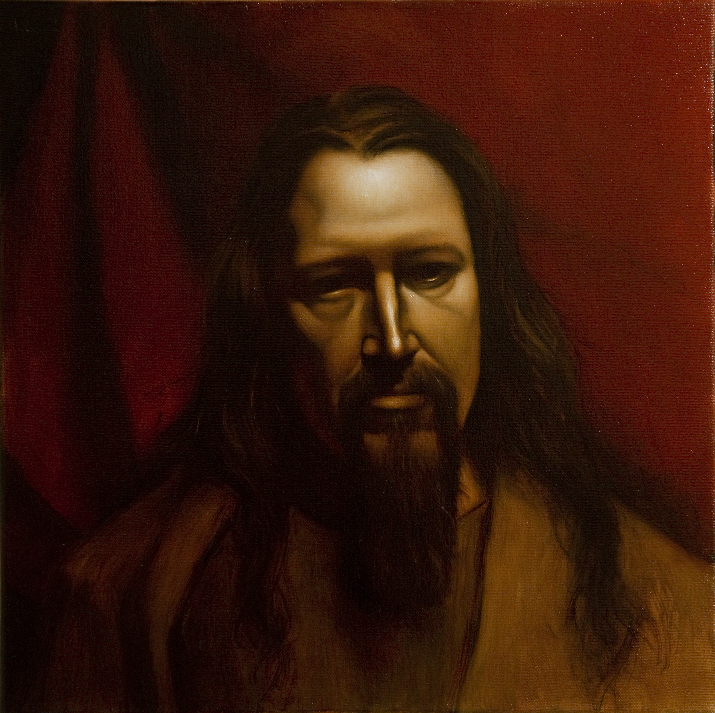 """Portrait of a Man Spanish Style, Oil on Canvas, 14"""" x 14"""", $2,500"""