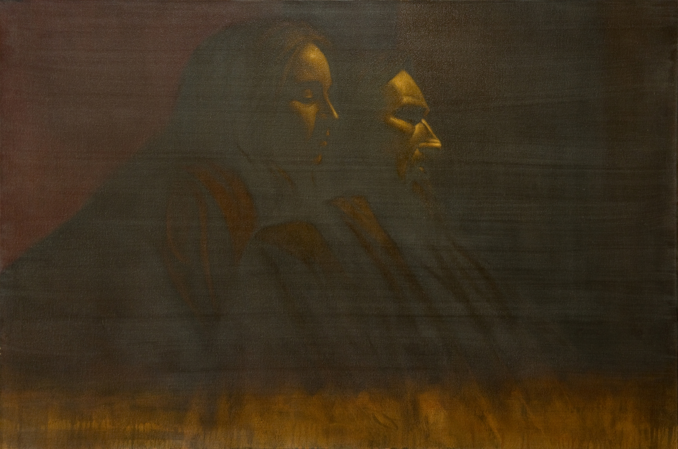 """Prophet with Voice, Oil on Canvas, 2010, 36"""" x 24"""""""