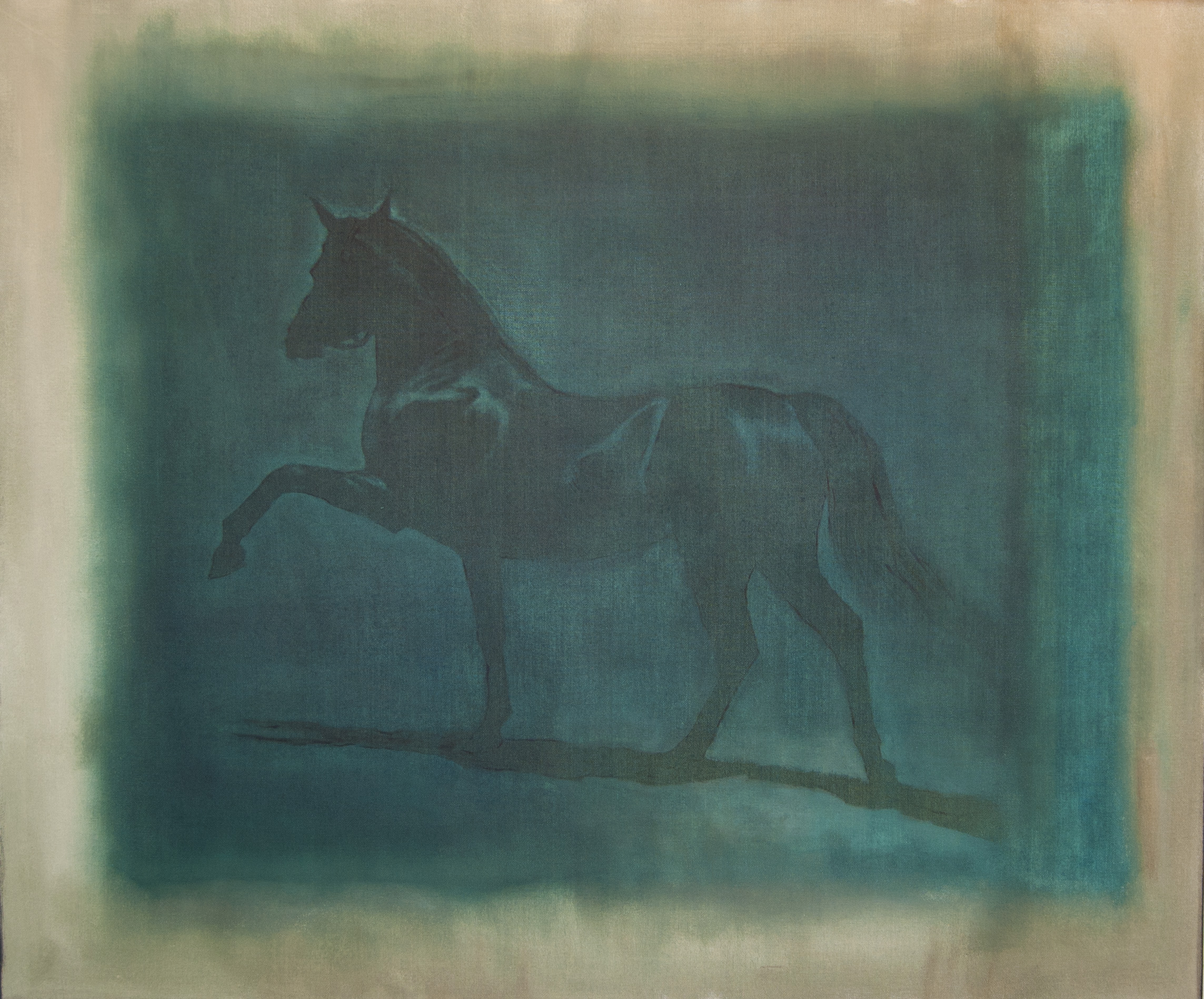"""Painting is History #1 (Horse in Blue), Oil on Canvas, 2012, 36"""" x 30"""""""