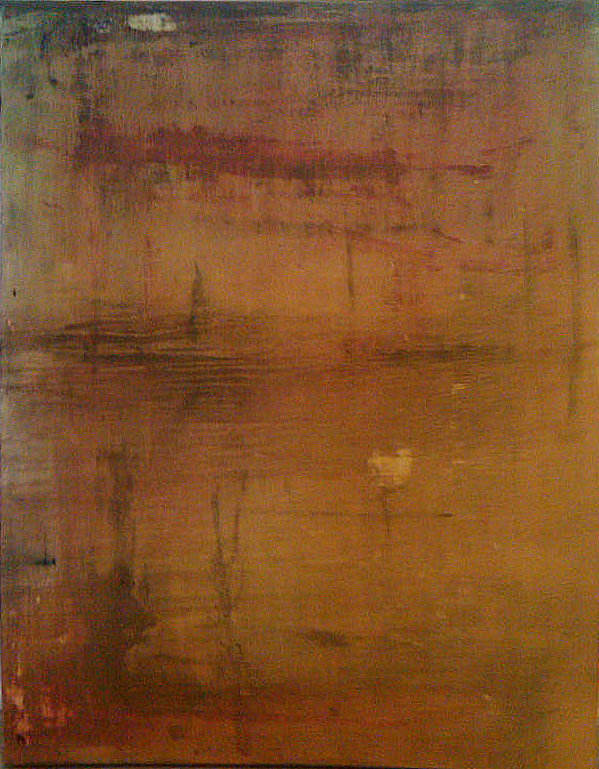 "1418, Oil on Canvas, 24"" x 38"""