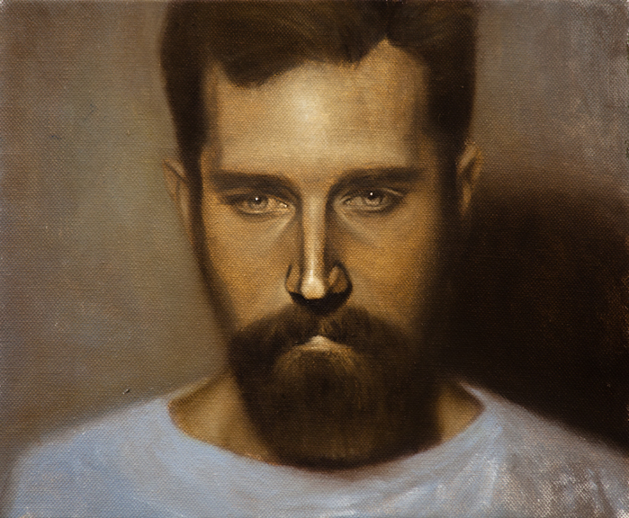 """CW-027, Painting is History #8 (Full Realistic Will), Oil on Canvas, 2012, 10"""" x 12"""", SOLD"""
