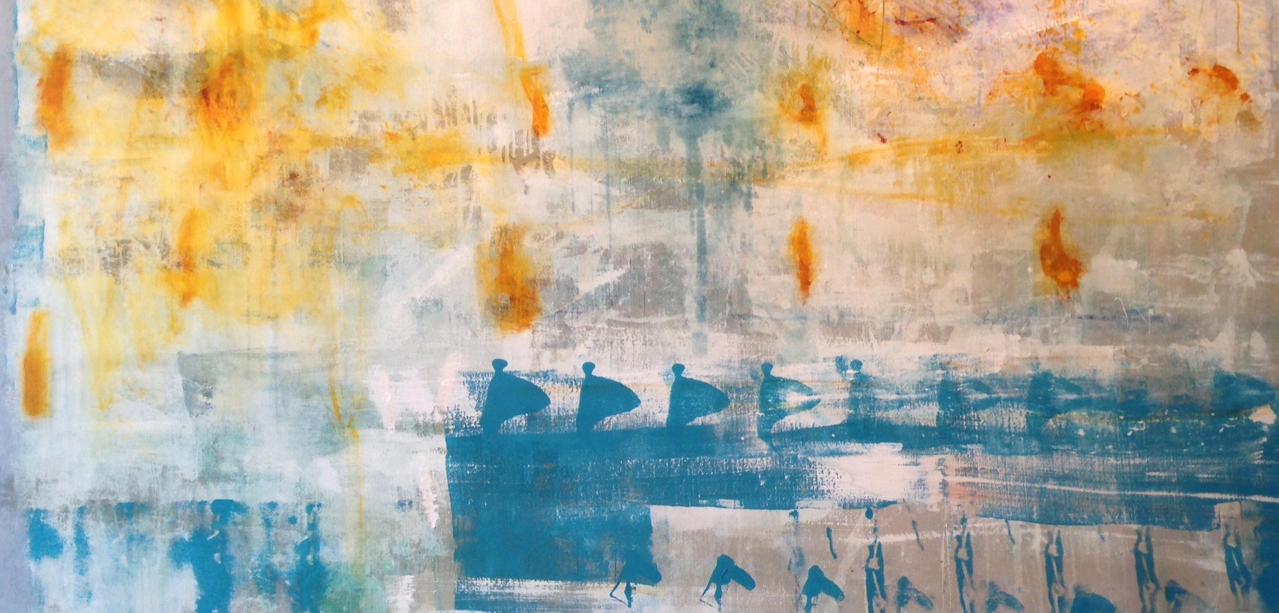 """1224, oil and acrylic on unprimed canvas, 2014, 96"""" x 48"""", $8,250"""