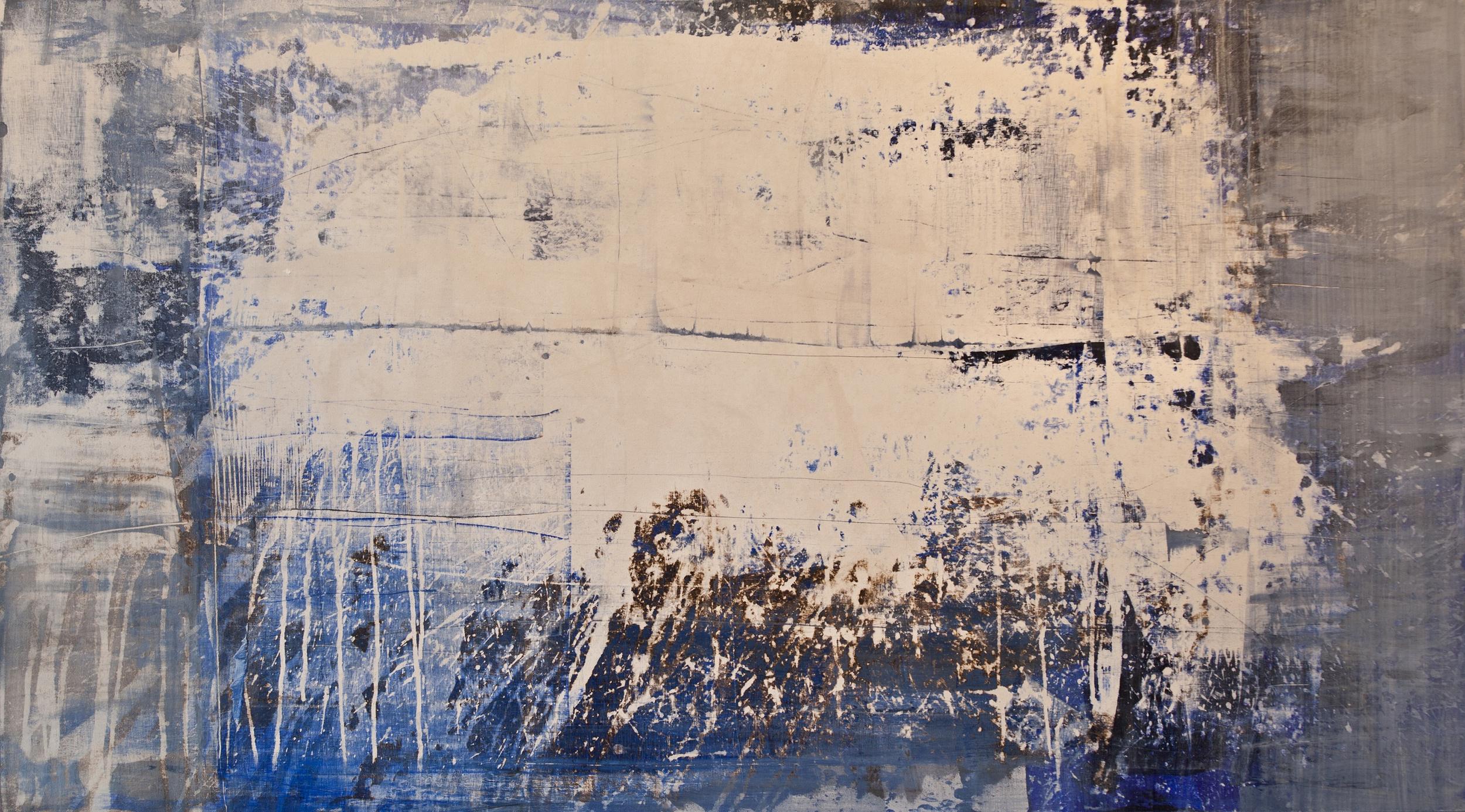 "1186, oil and acrylic on canvas, 2014, 72"" x 40"", $6,000"