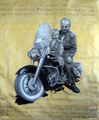 "Elmwood Boy, 2008, Oil Pastel on Paper, 60"" x 72"""