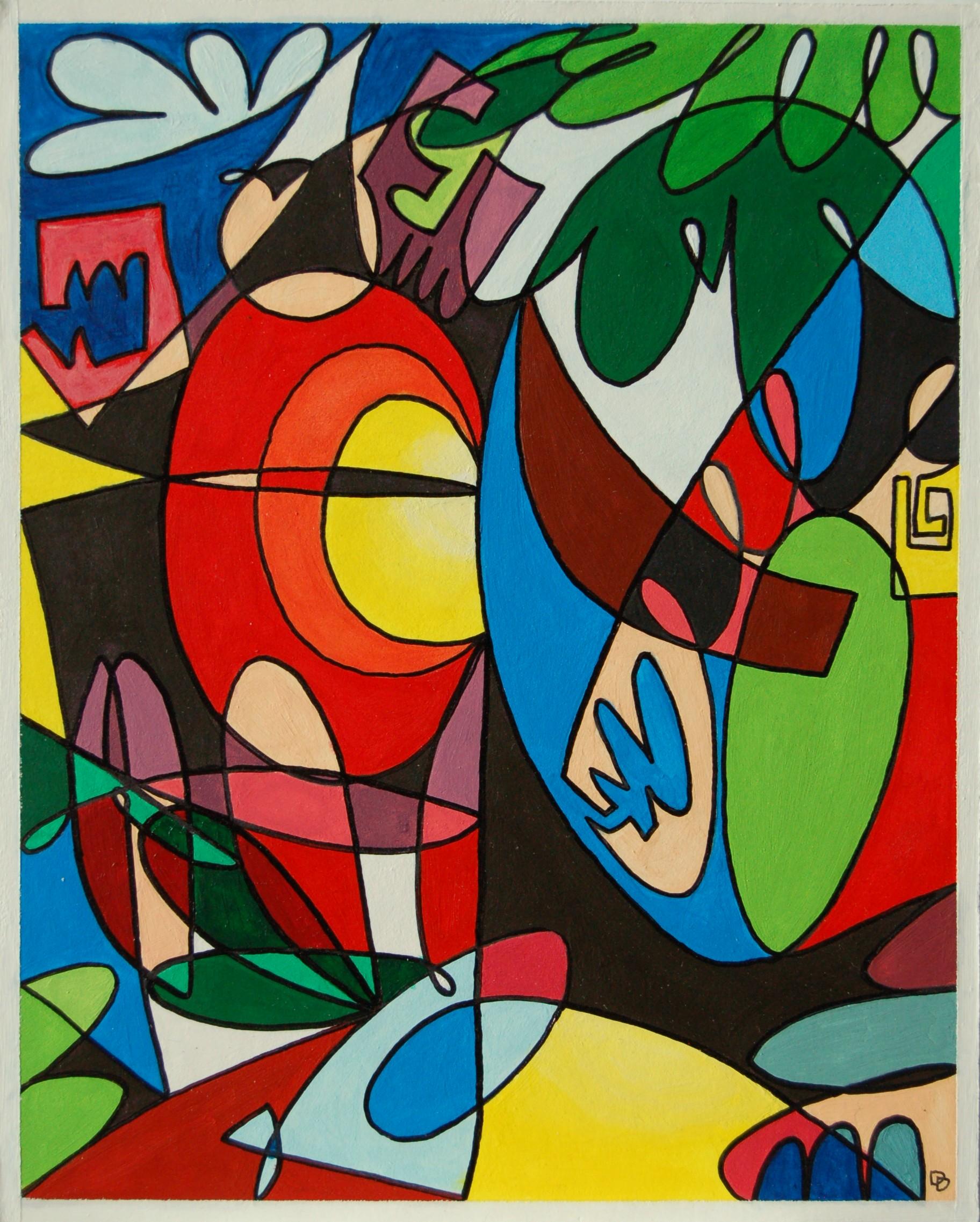 """Untitled 1, Acrylic on Rag Board, 8"""" x 10"""""""