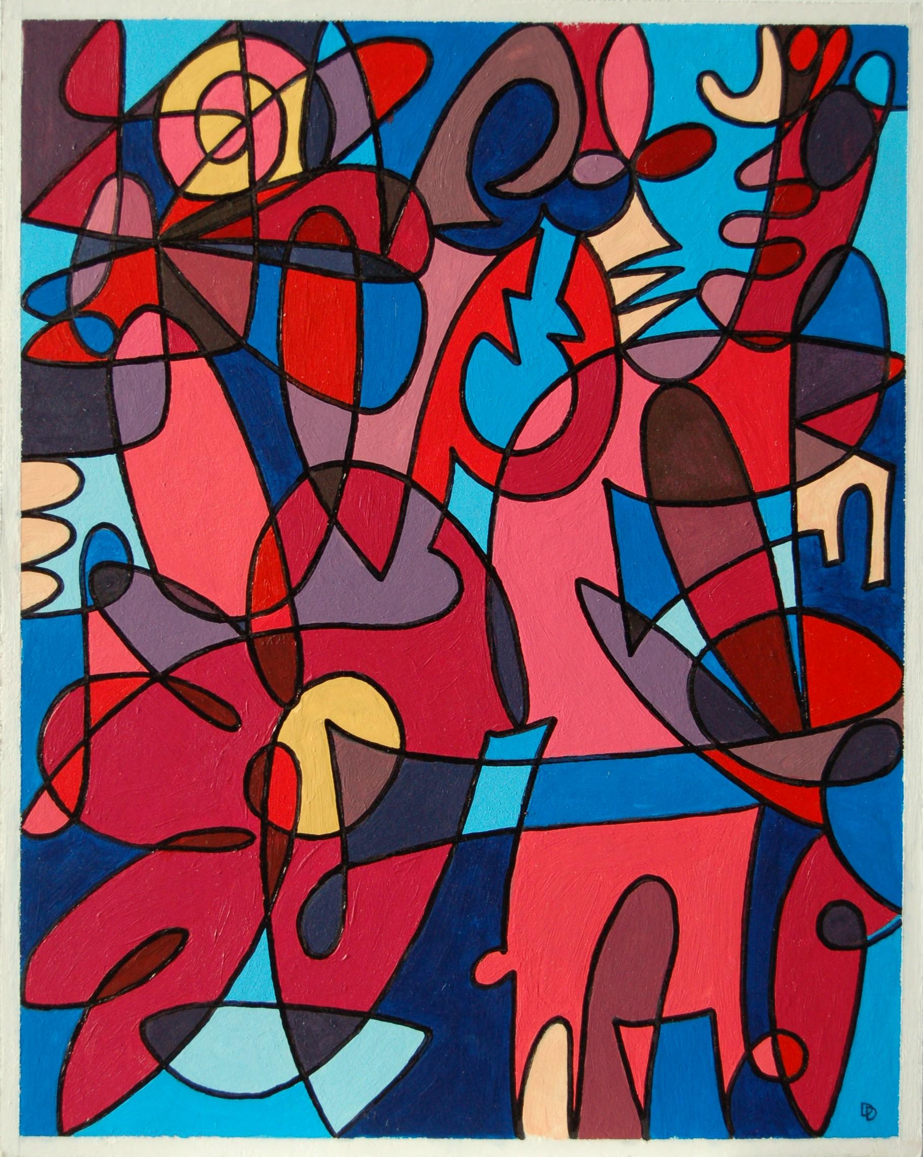 "Untitled 2, Acrylic on Rag Board, 8"" x 10"", SOLD"