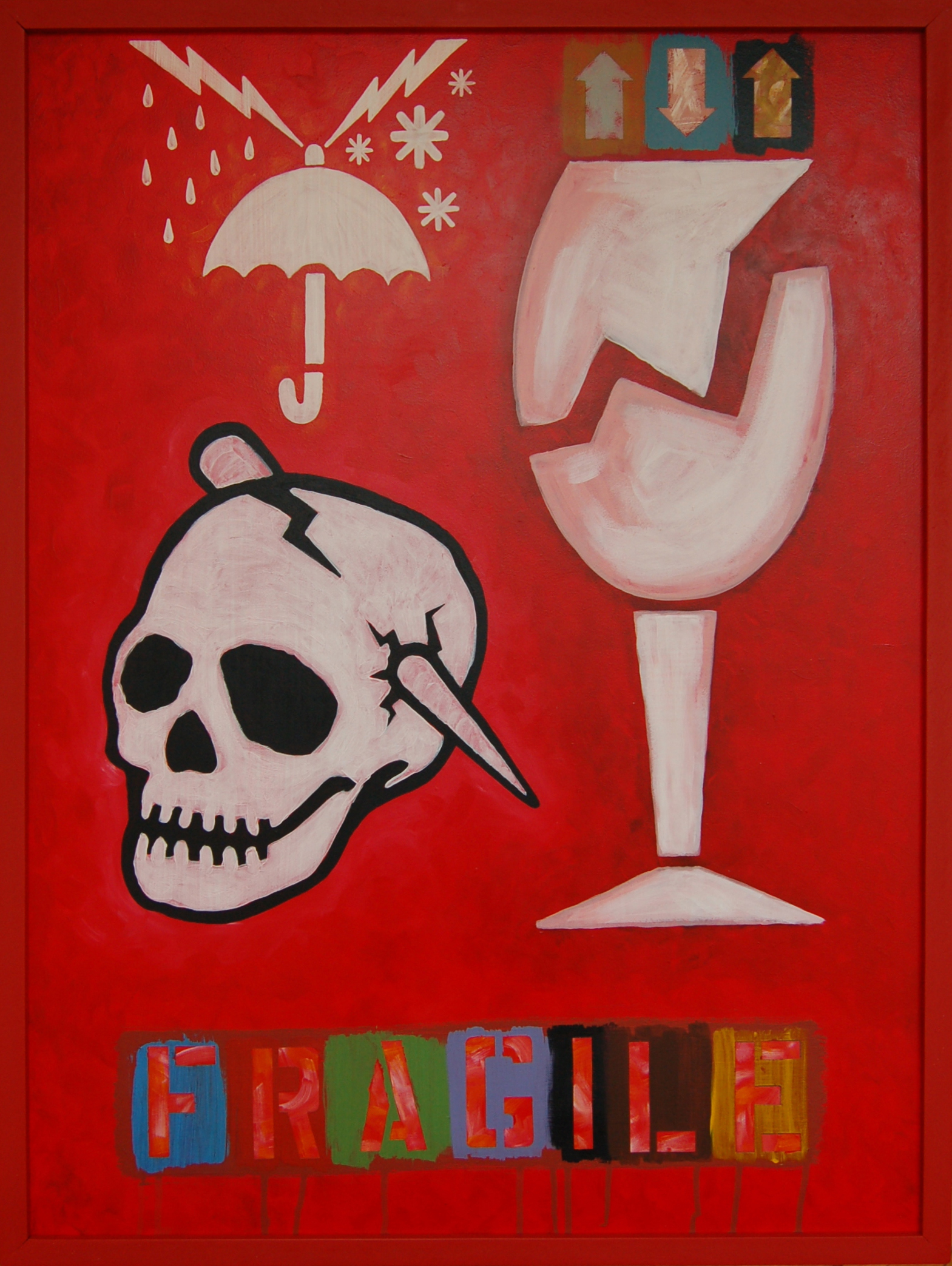 """Drinking in the Rain, Latex and Acrylic on Gatorboard, 25.5"""" x 33"""""""