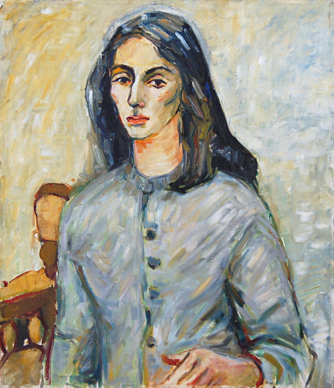"""Portrait, Oil on Canvas, 24"""" x 28.25"""""""