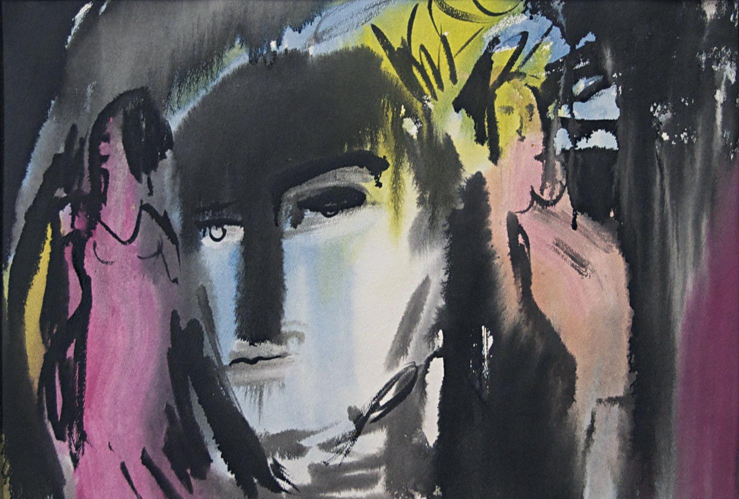 "Phantasm, c1975, Watercolour on Paper, 23""x 17"""
