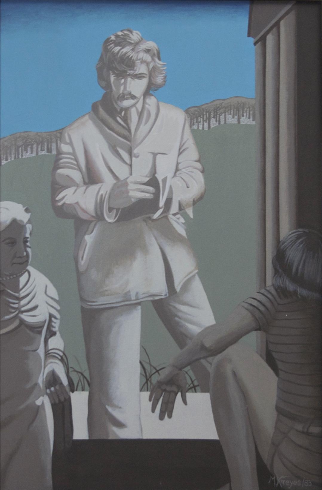 """The Book, 1983, Acrylic on Canvas, 24"""" x 36"""""""