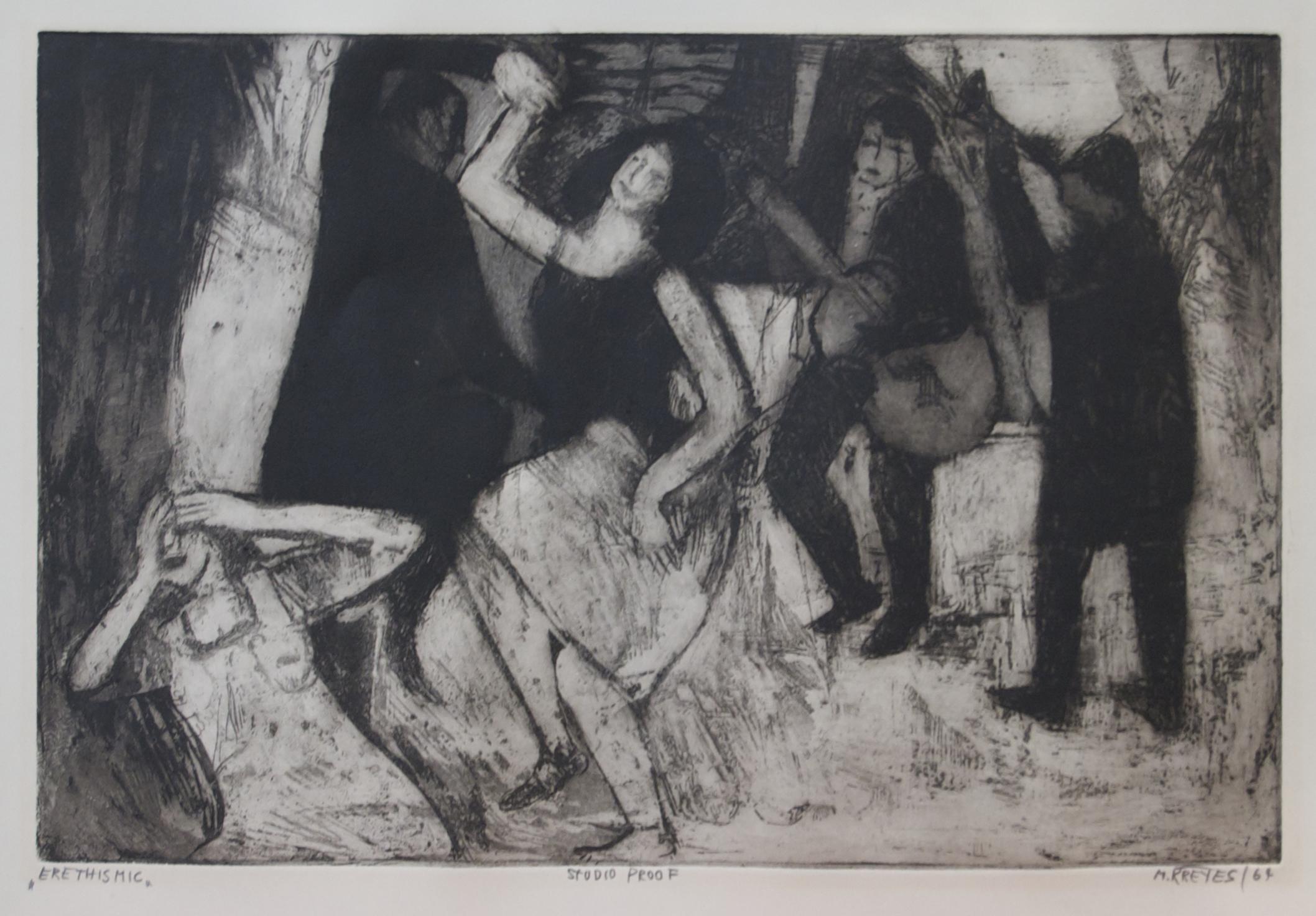 """Erethismic, 1964, Aquatint, 18"""" x 13"""""""