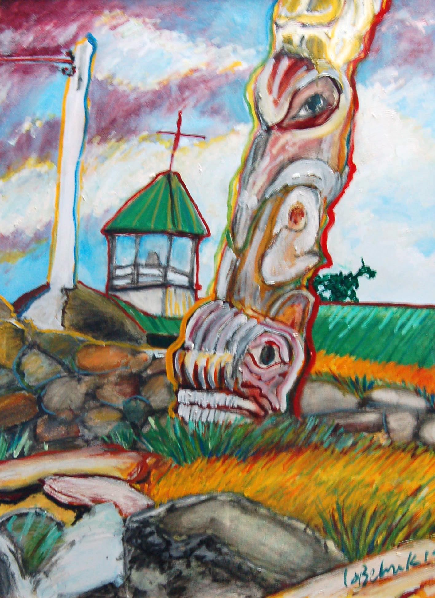 "Sechelt Shore, Oil on canvas, 30"" x 40"""