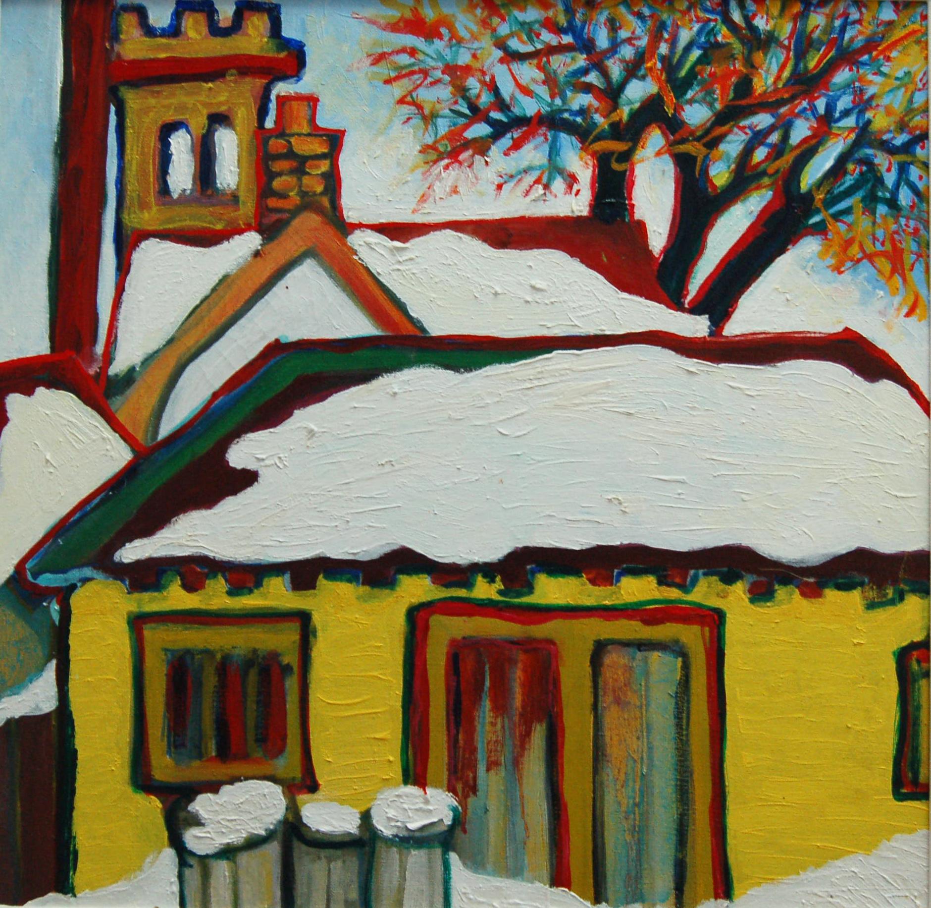 """No. 11 Firehall, Oil on canvas, 19"""" x 19"""""""