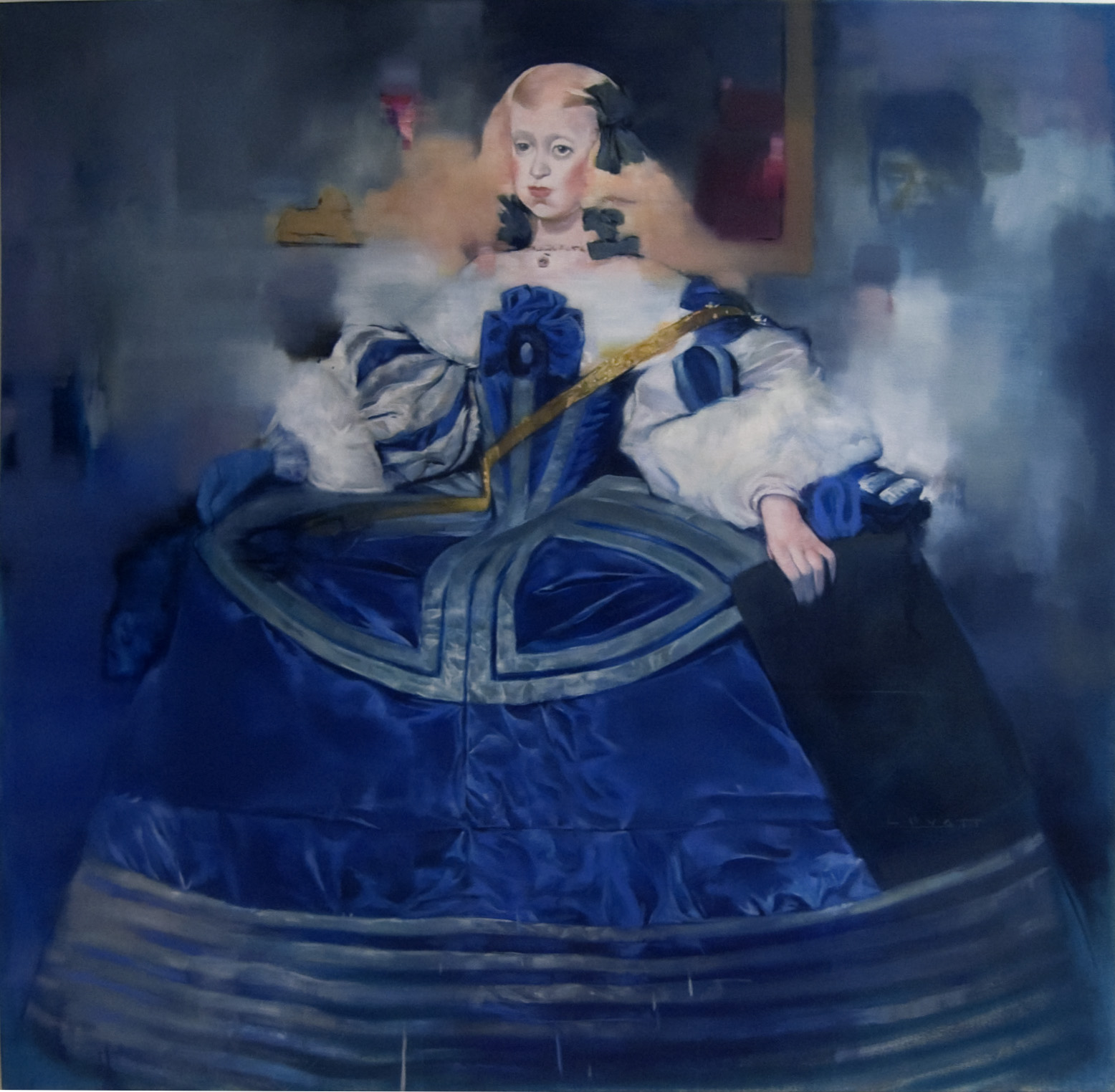 """Infante with a Blue Hand, Oil on Canvas, 2010, 48"""" x 48."""""""