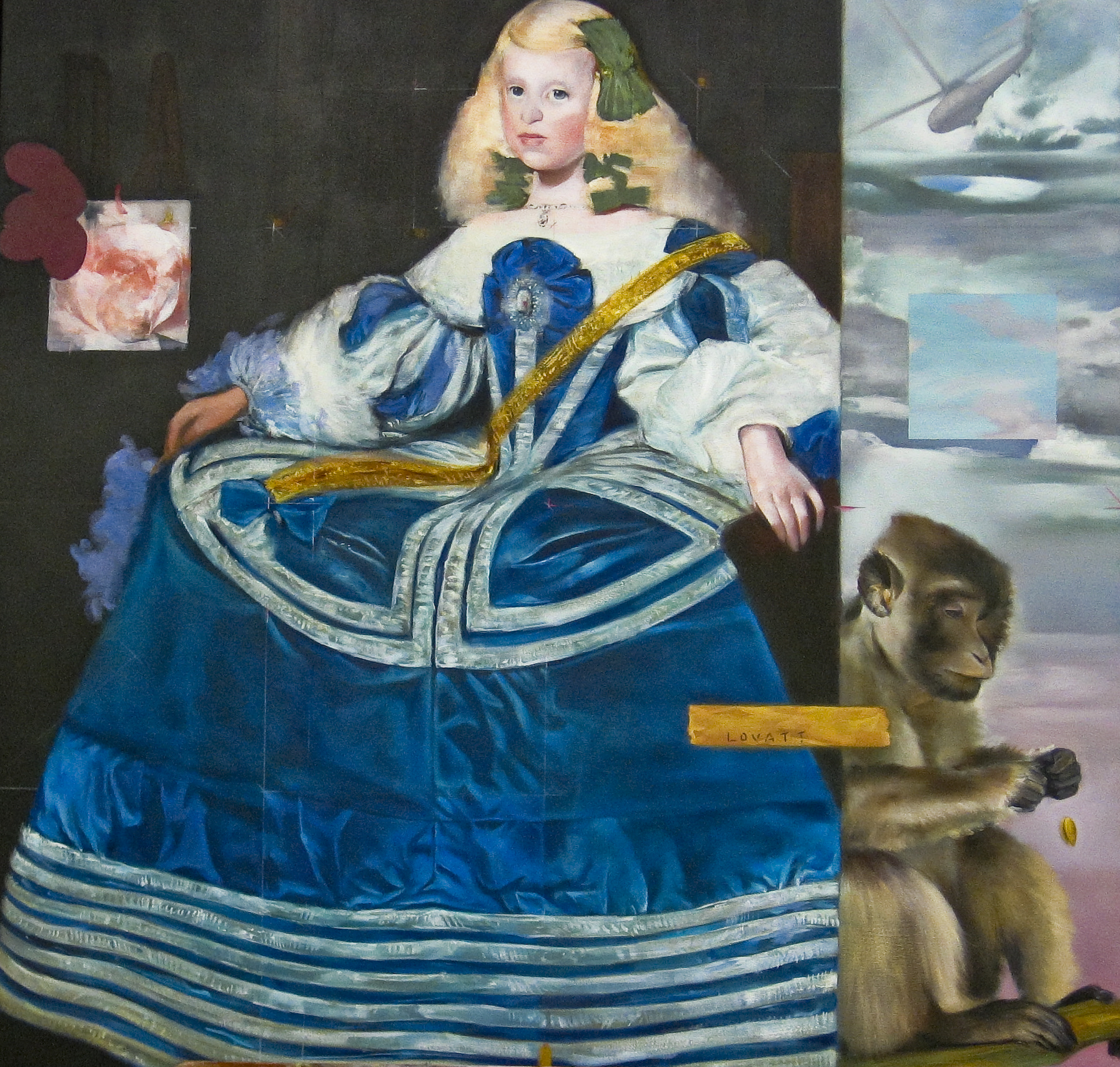 "The Infante with Monkey, Oil on Canvas, 2010, 48"" x 48"""