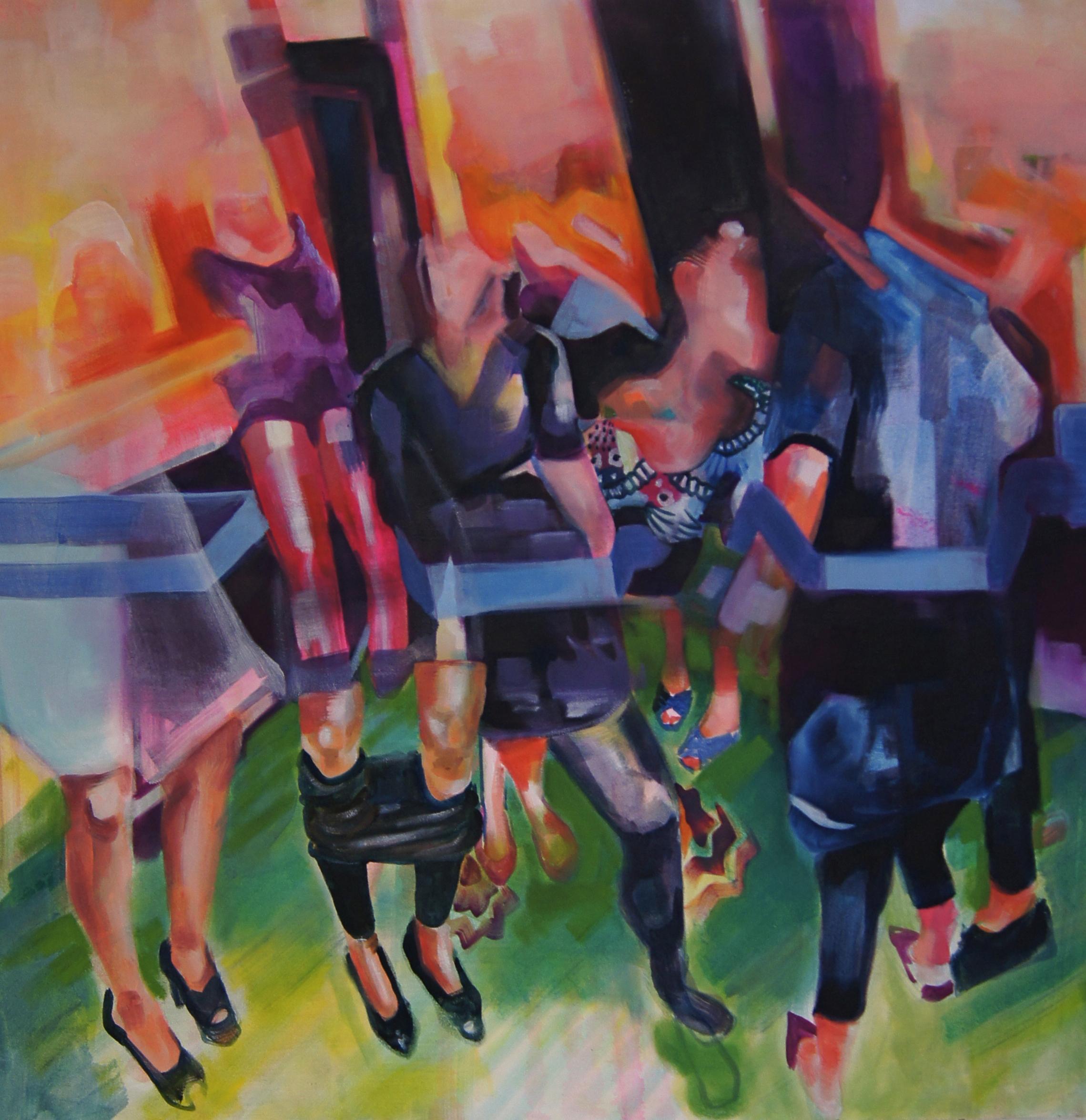 JM-006, Bachelorette Party, 36 x 36, Oil on Canvas Edit.jpg