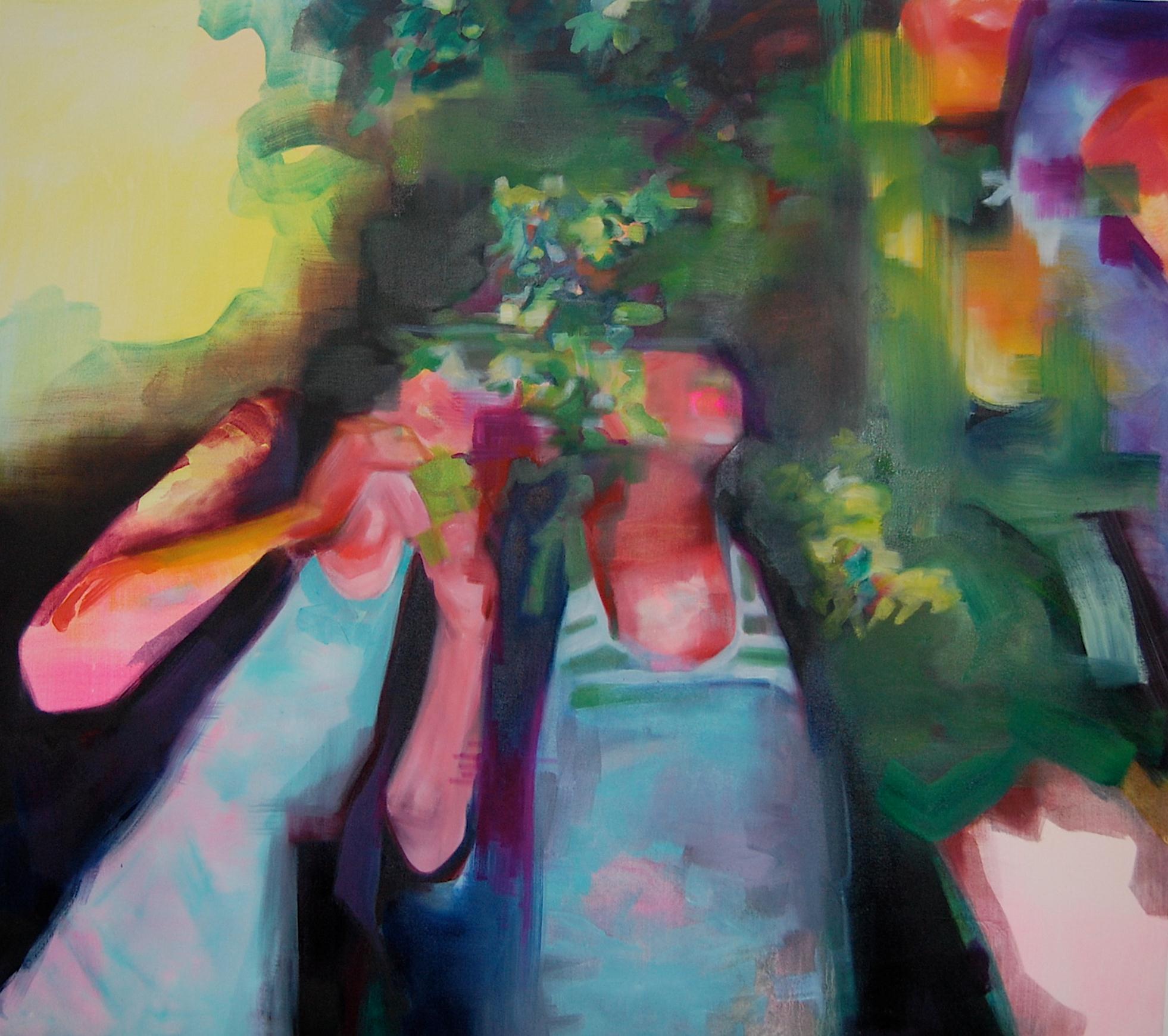 "Shotgun, 42"" x 48"", Oil on Canvas"
