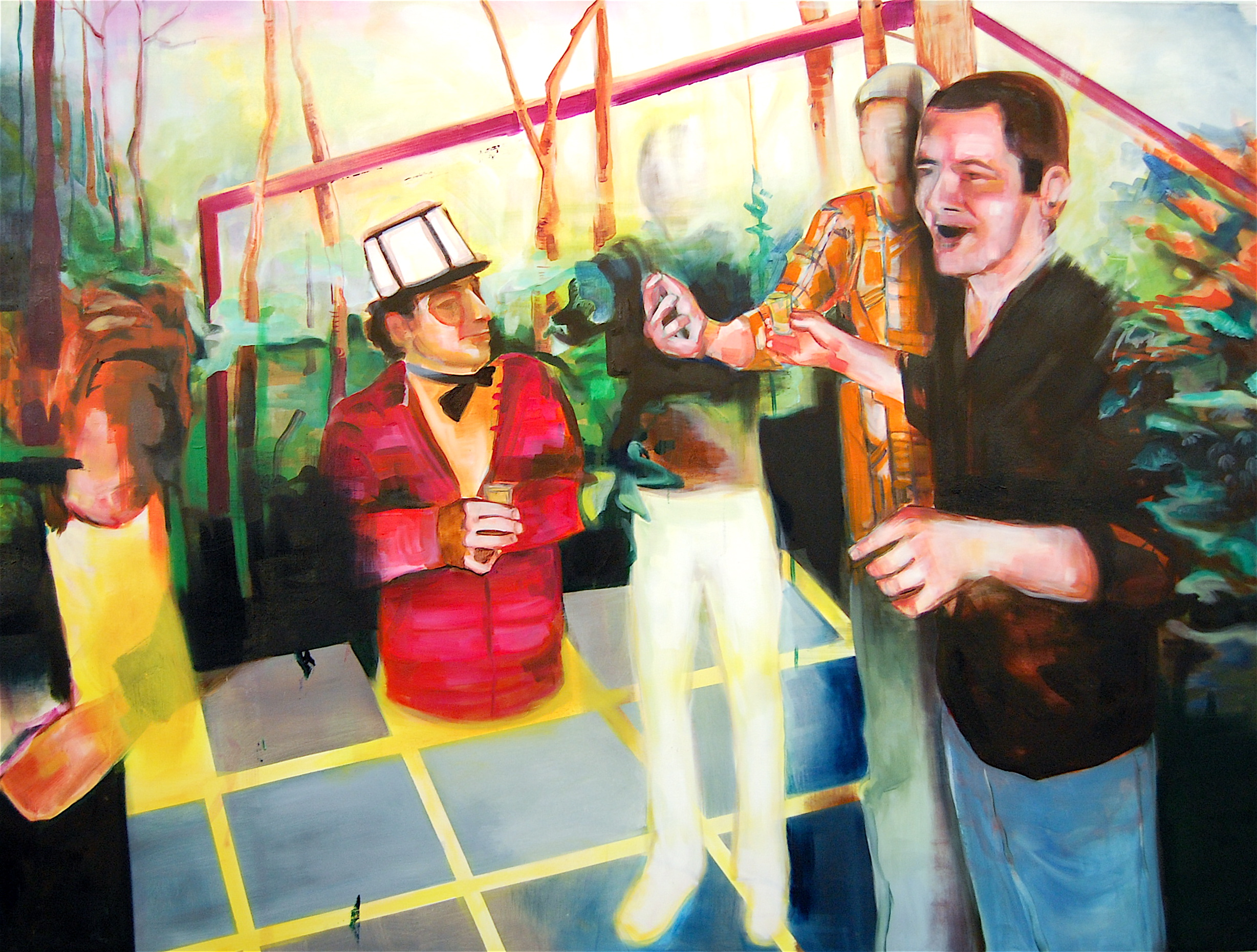 "The Forever Party, 72"" x 54"", Oil on Canvas"