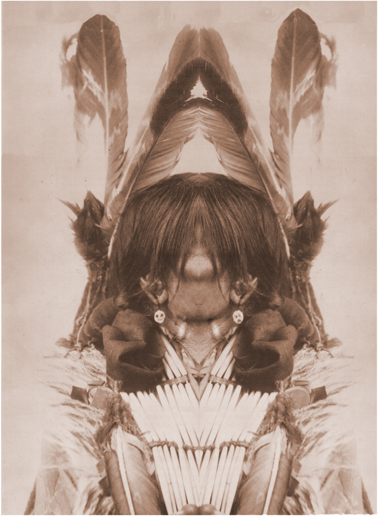 "Wesakechak the Trickster, 25"" x 34"",Watercolour Paper Print"