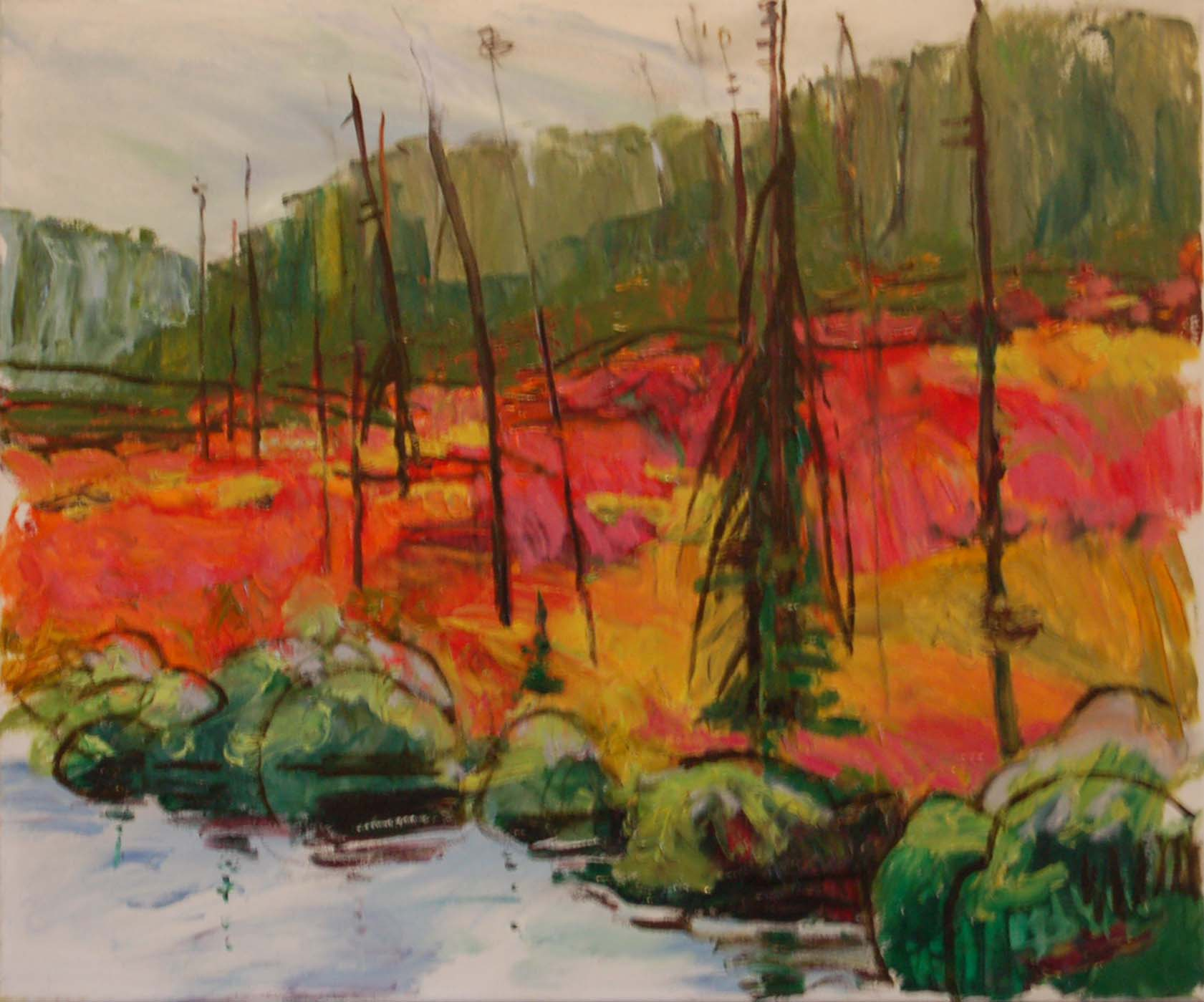 """Territoire de Couleur, Oil on canvas, 24"""" x 20"""""""