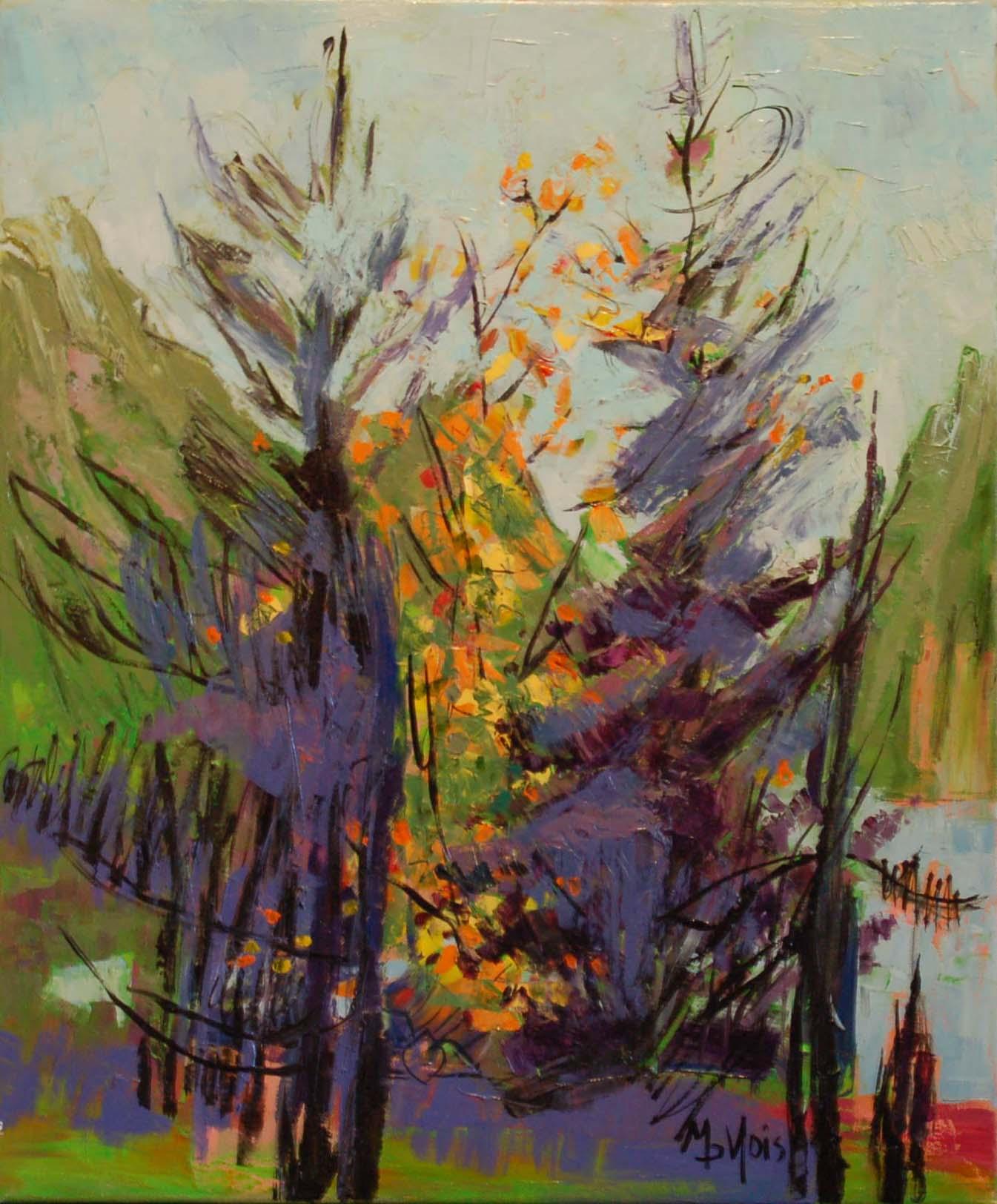 "L'Epopee de la Traverse, Oil on canvas, 20"" x 24"""