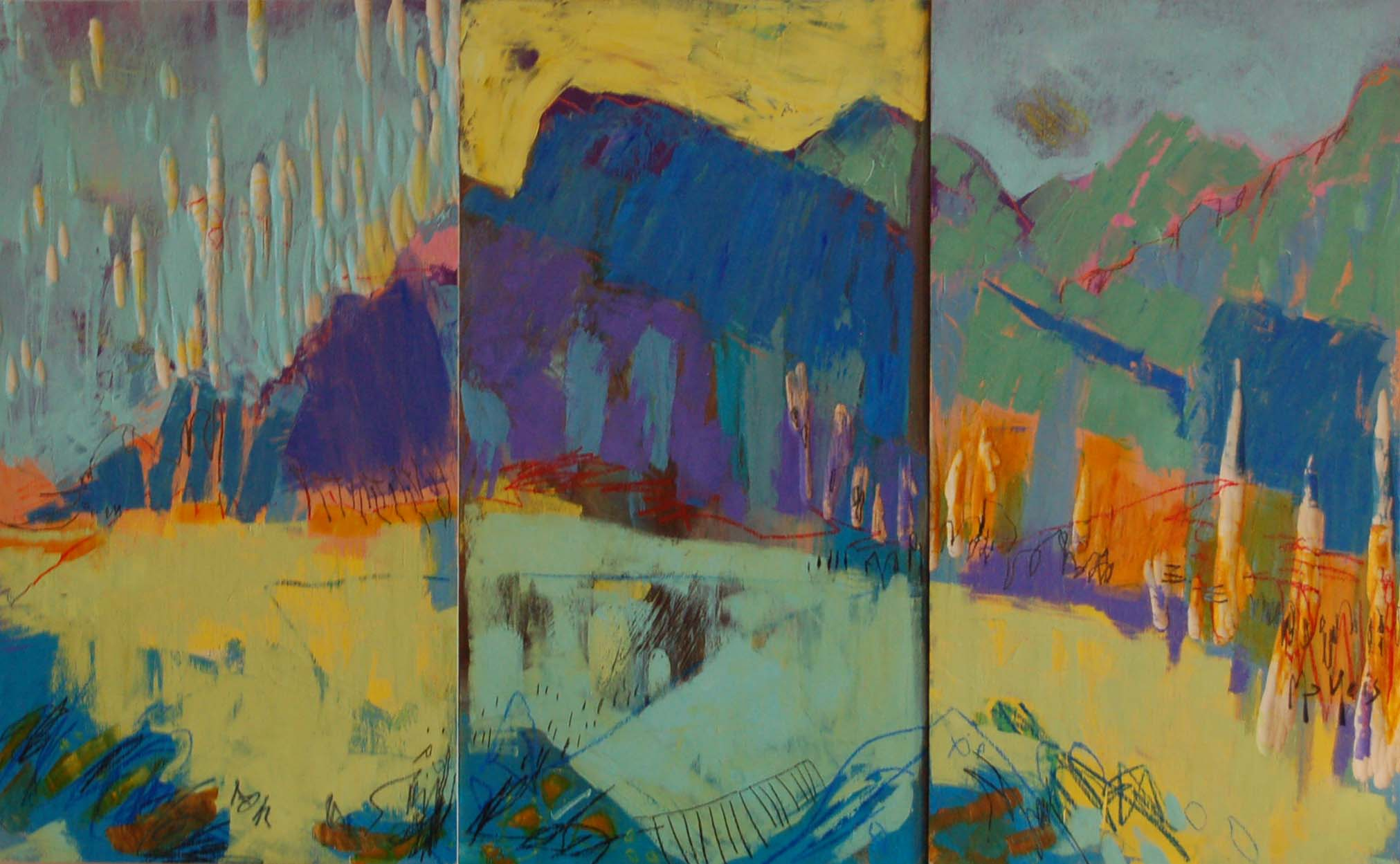 "Glimpse of Eternity, Oil on panel, 43.5"" x 27"""