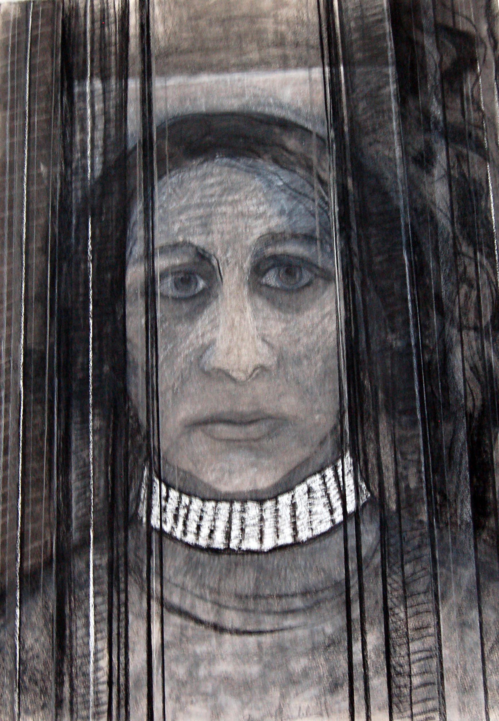 "Untitled(Self Portrait), ca.1980, Pastel on paper, 29.5"" x 41"""