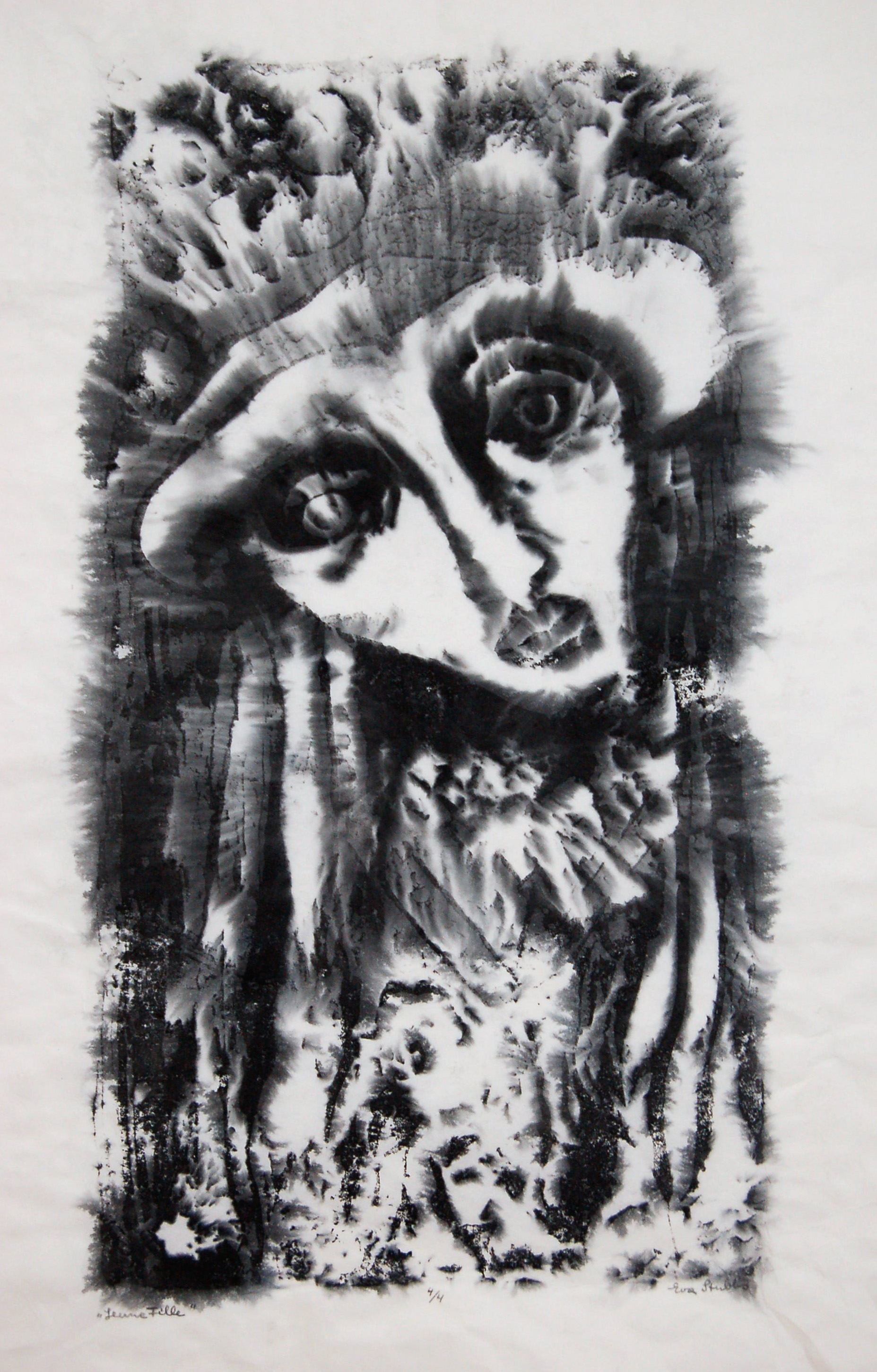 """Leume Fille, Print on parchment, 24.5"""" x 33.5"""""""