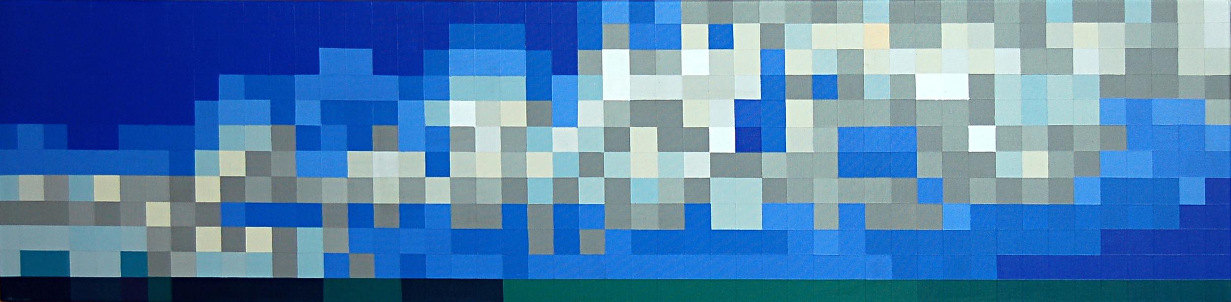 "Landscape, Acrylic on canvas, 2014, 48"" x 12"""