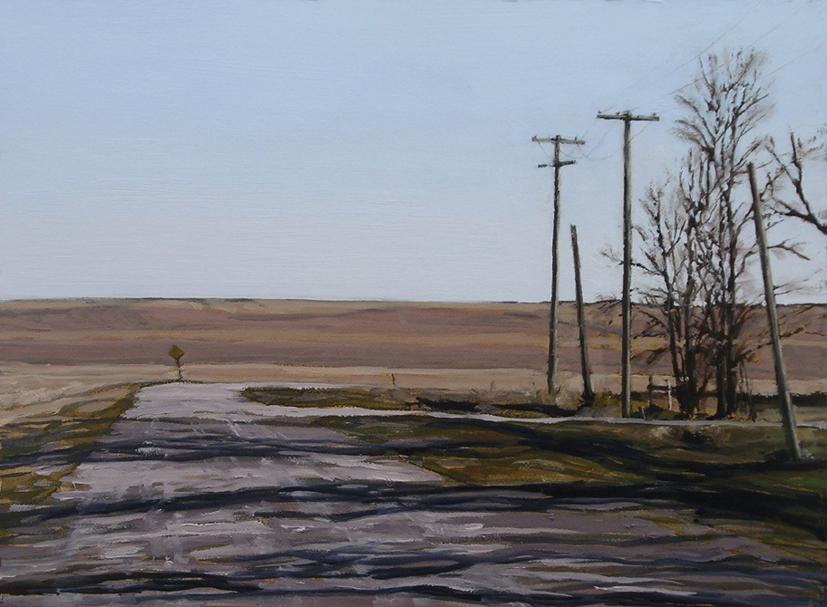 "Dead End, St. Mary's Rd, Oil on Paper, 20"" x 15"""
