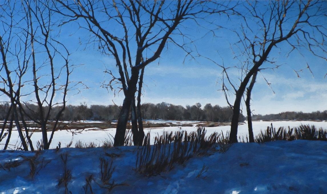 "Crescent Drive Park, Oil on Canvas, 60"" x 36"", 2013"