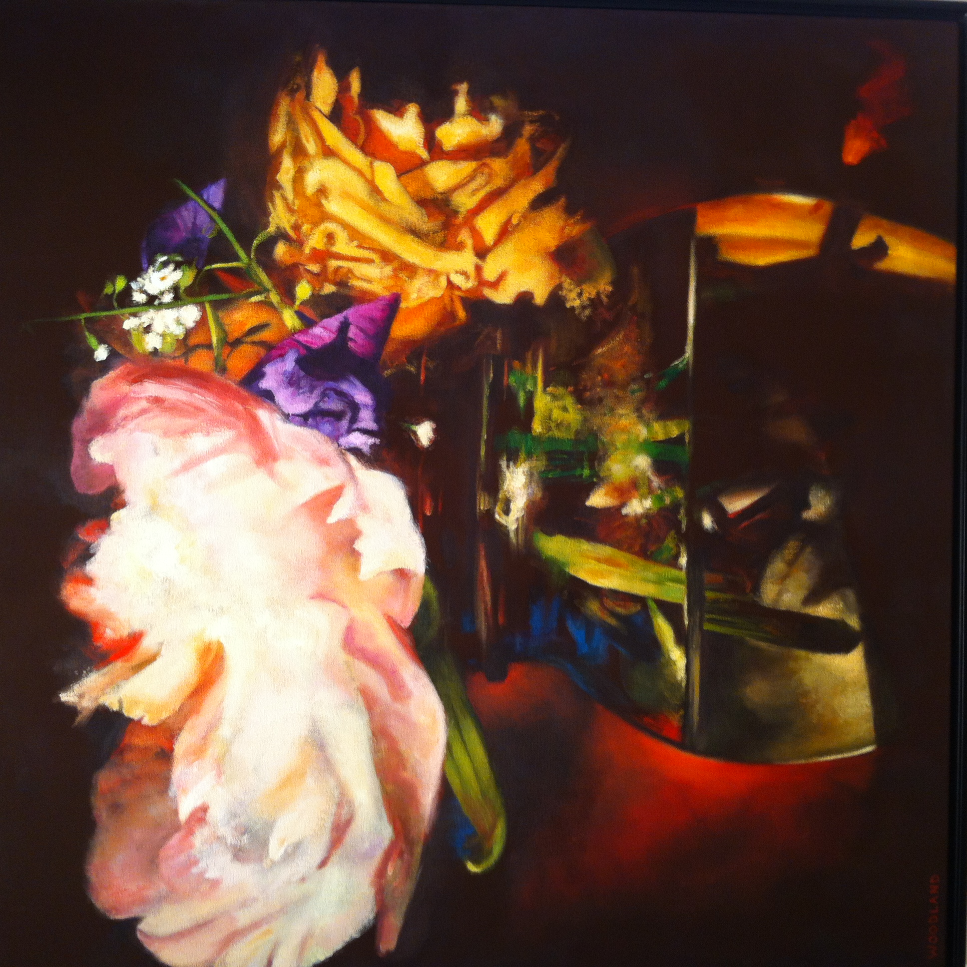 "Still Life, Oil on Canvas, 2009, 36"" x 36"""
